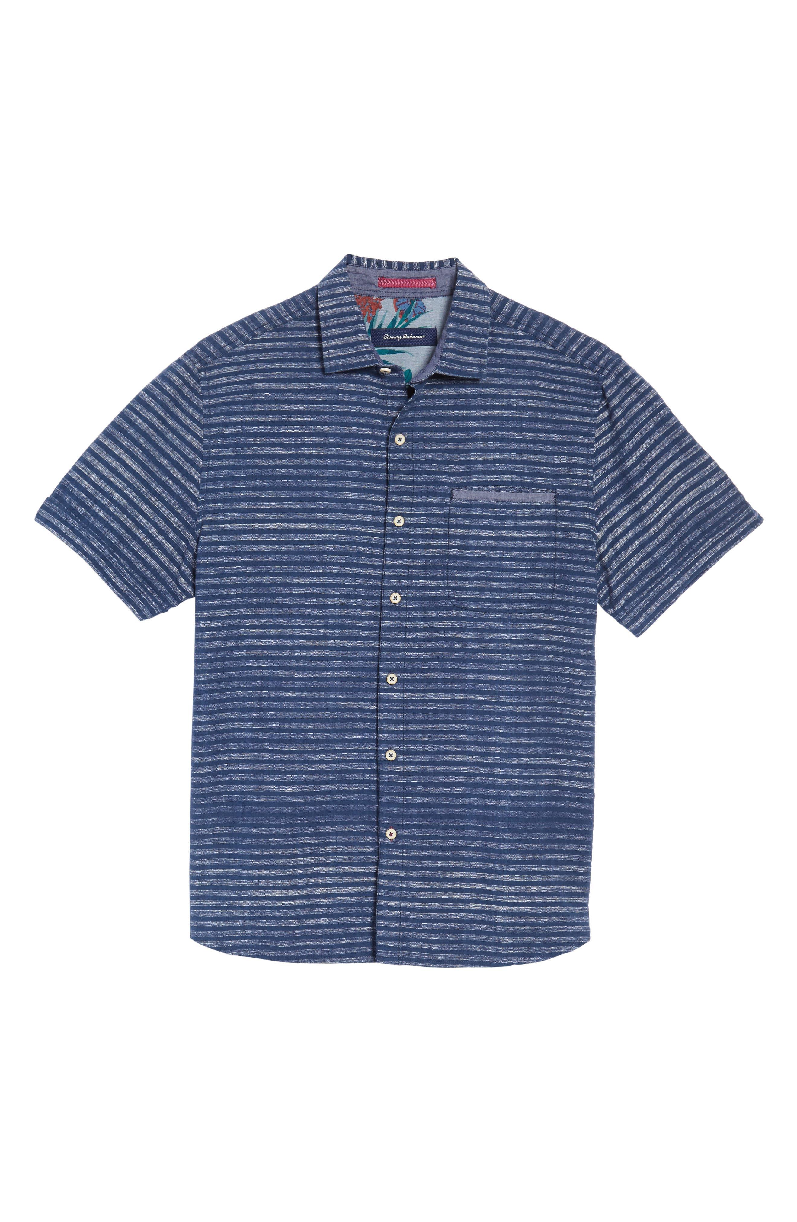 Alternate Image 6  - Tommy Bahama Seaway Stripe Standard Fit Sport Shirt
