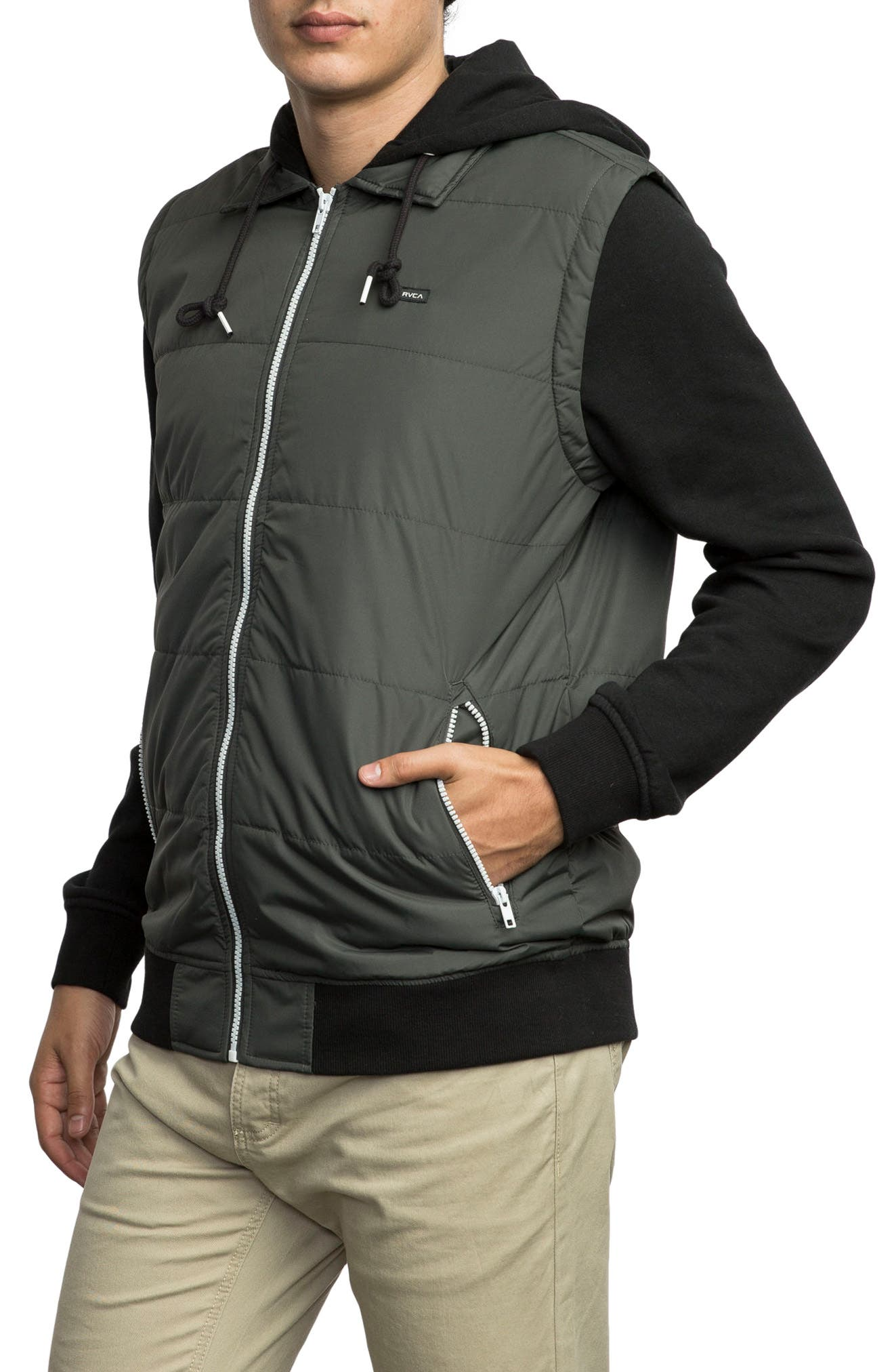 Alternate Image 3  - RVCA Puffer Zips Hybrid Jacket