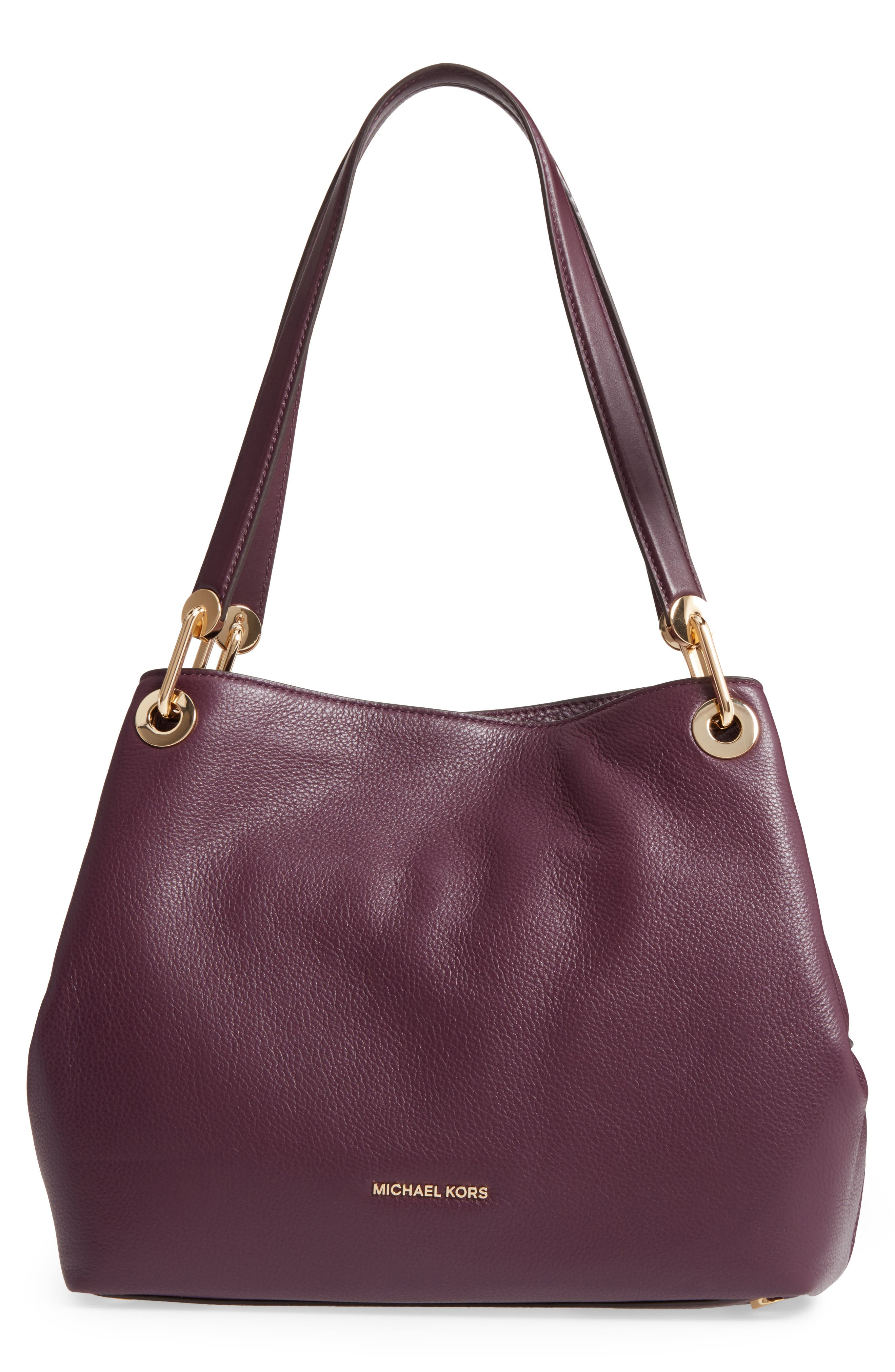 MICHAEL Michael Kors Large Raven Leather Tote