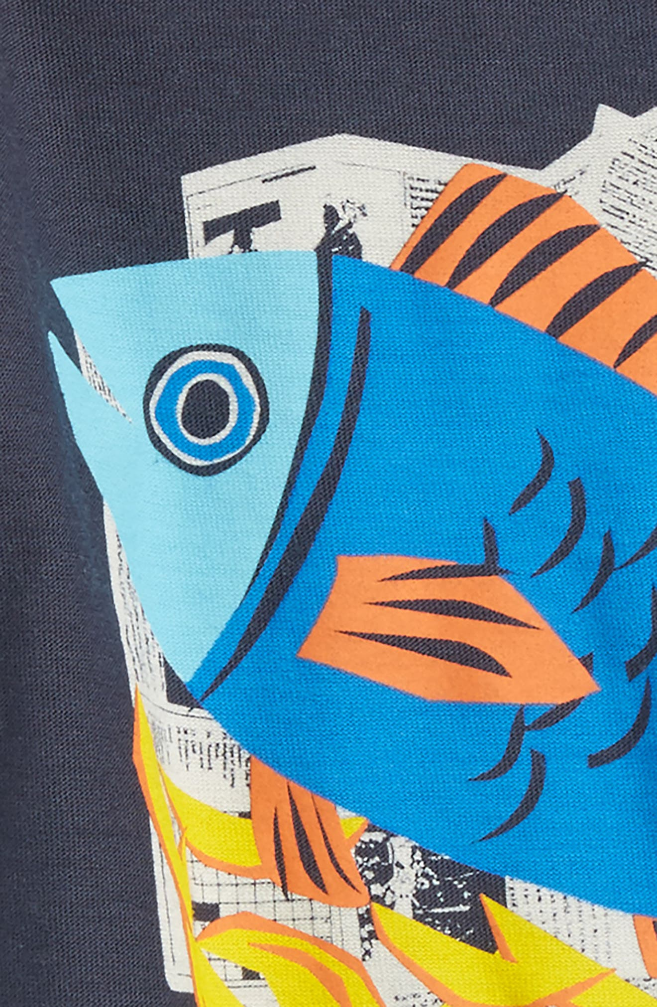 Alternate Image 2  - Tea Collection Fish & Chips Graphic T-Shirt (Baby Boys)