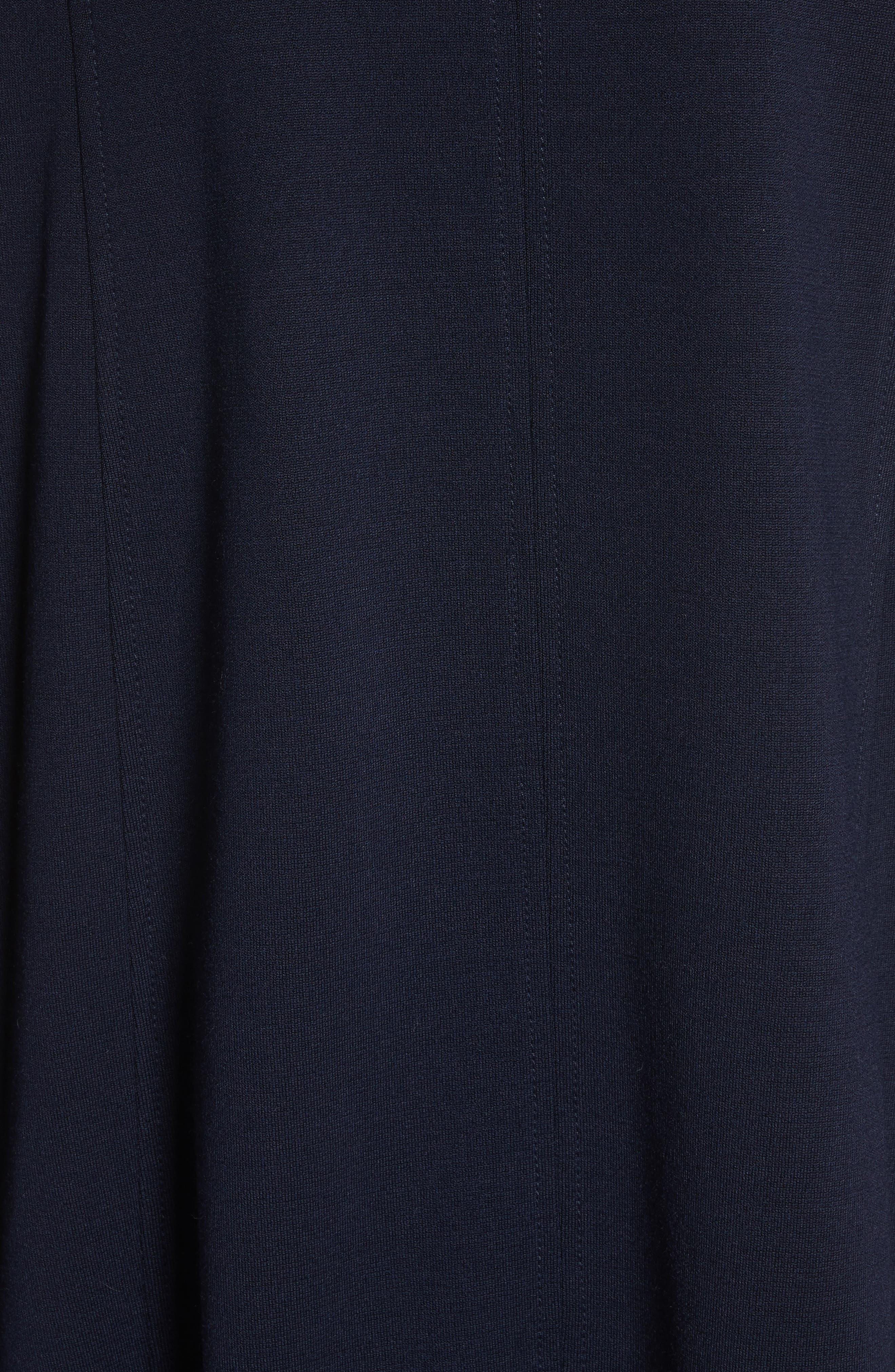 Circular Milano Knit Jacket,                             Alternate thumbnail 6, color,                             Navy