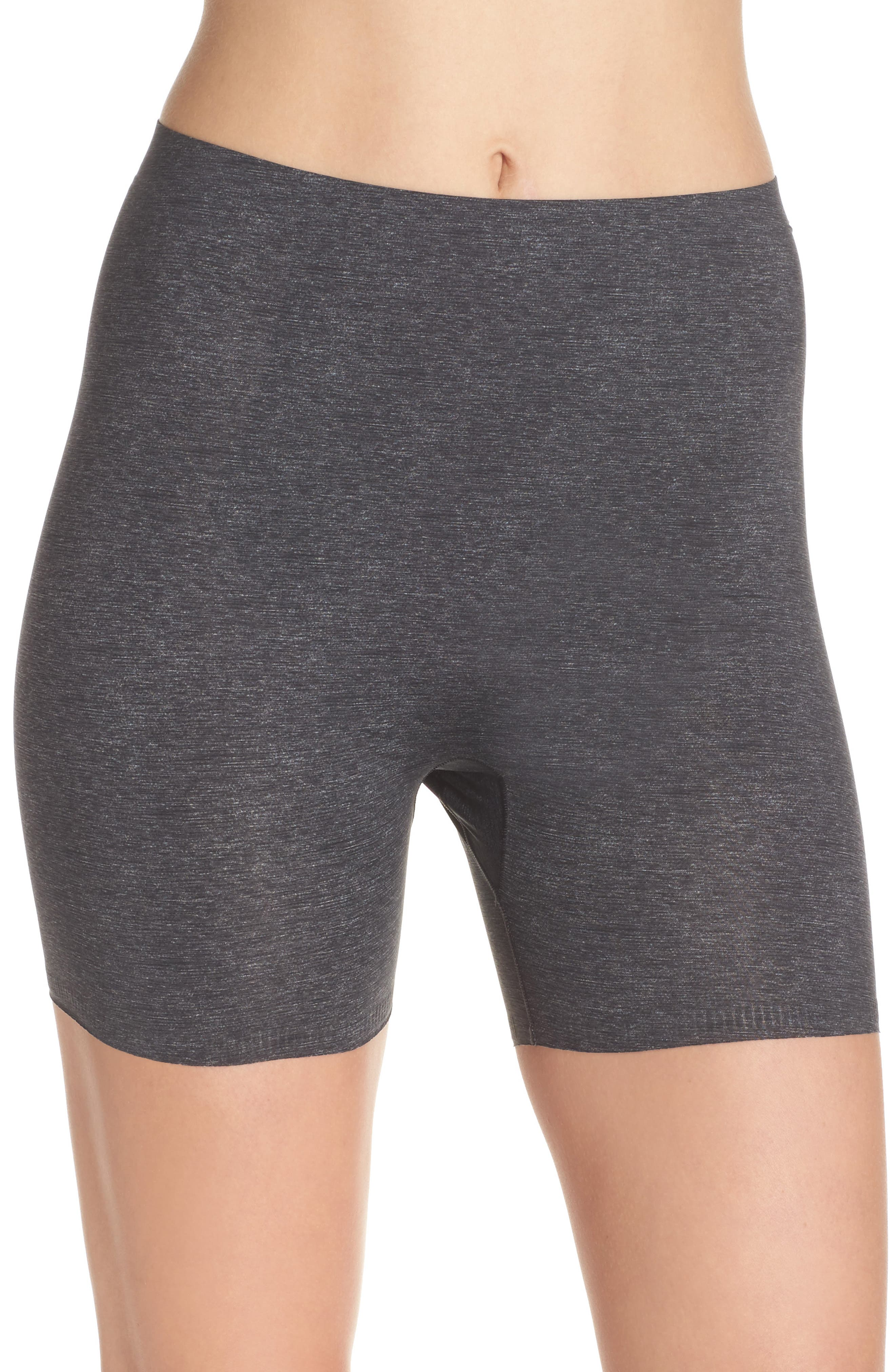Thinstincts Girl Shorts,                             Main thumbnail 1, color,                             Heather Charcoal