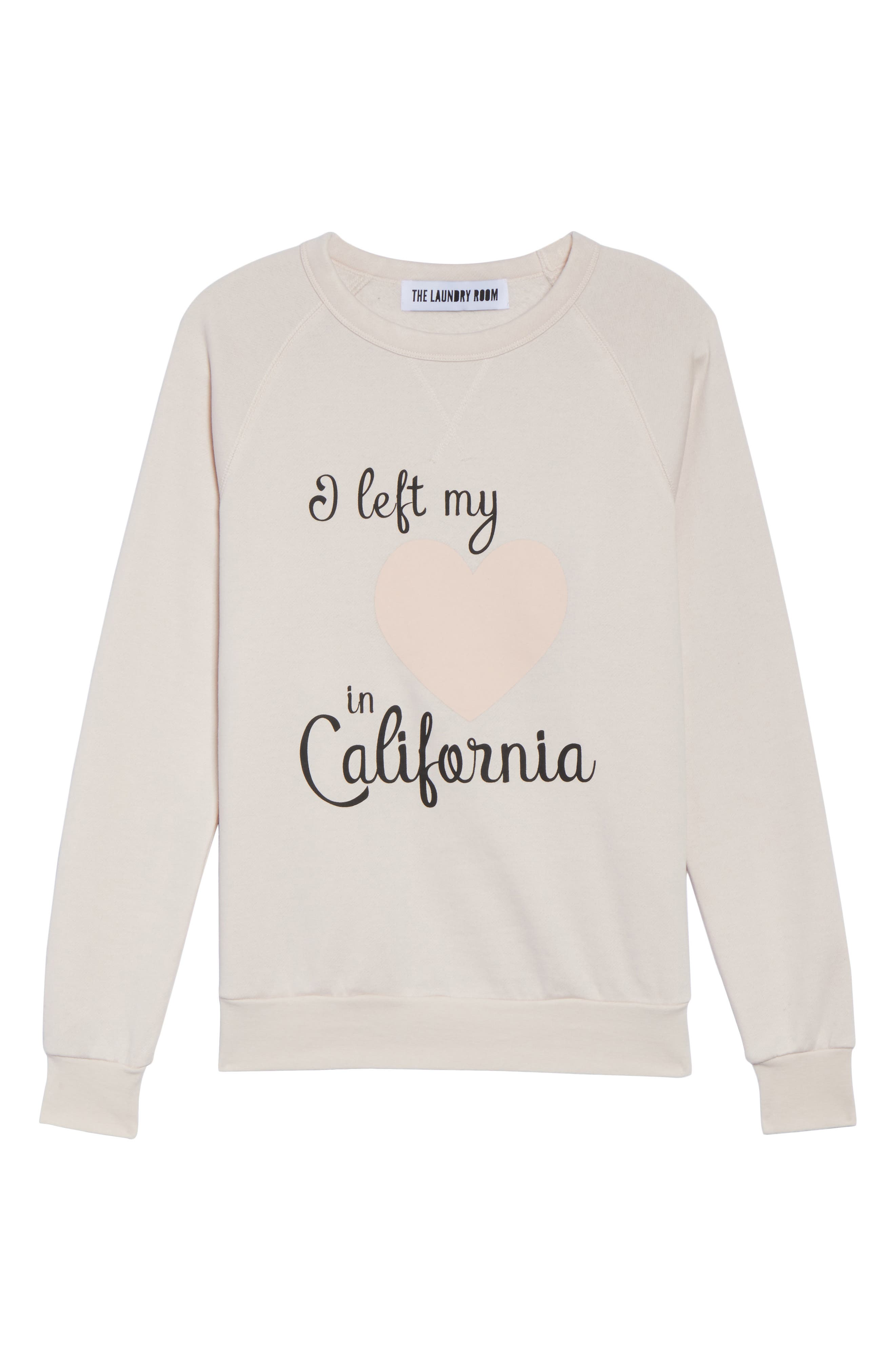 Alternate Image 6  - The Laundry Room Heart in California Lounge Sweatshirt