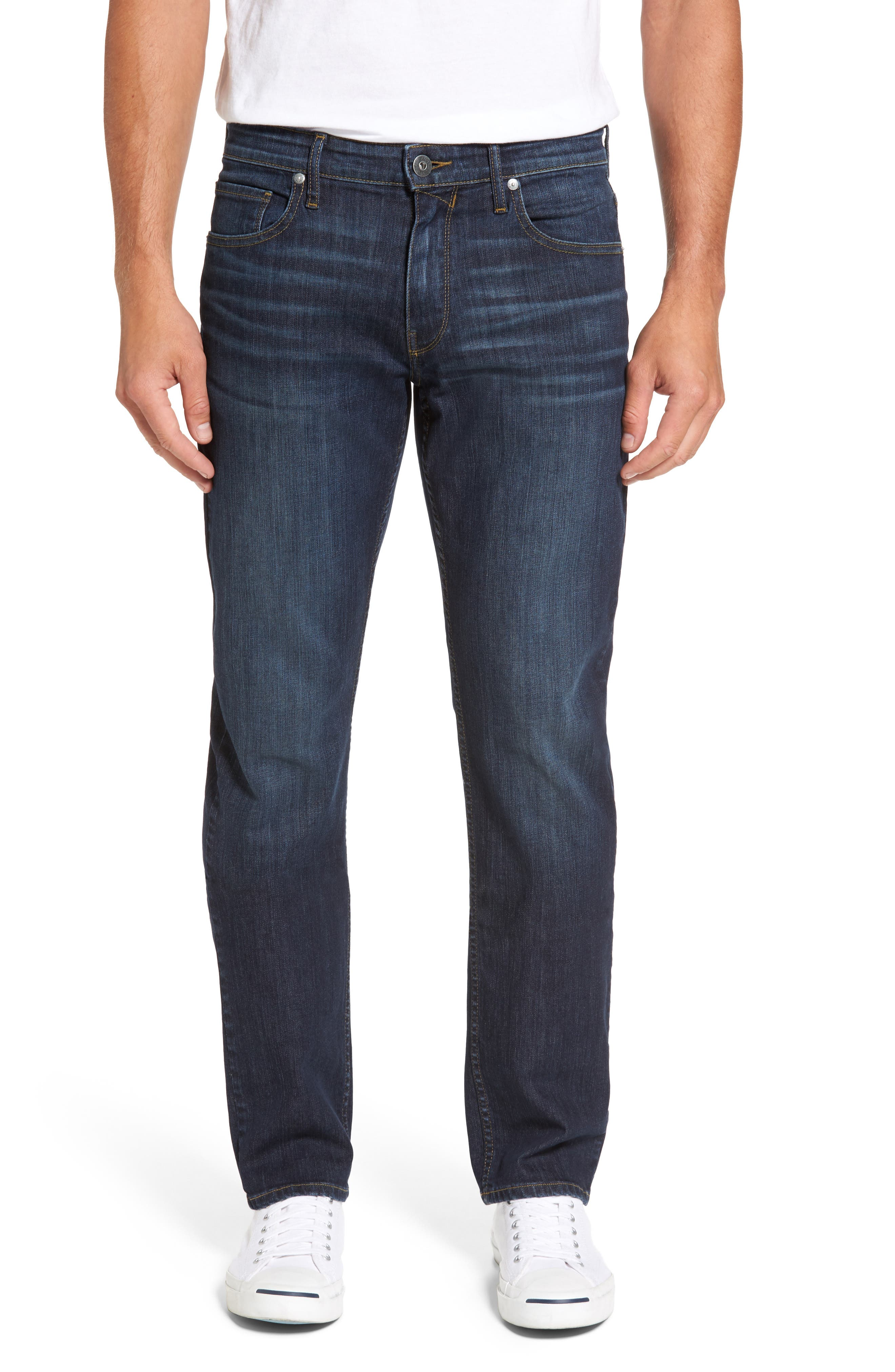 Main Image - PAIGE Legacy - Normandie Straight Fit Jeans (Barker)