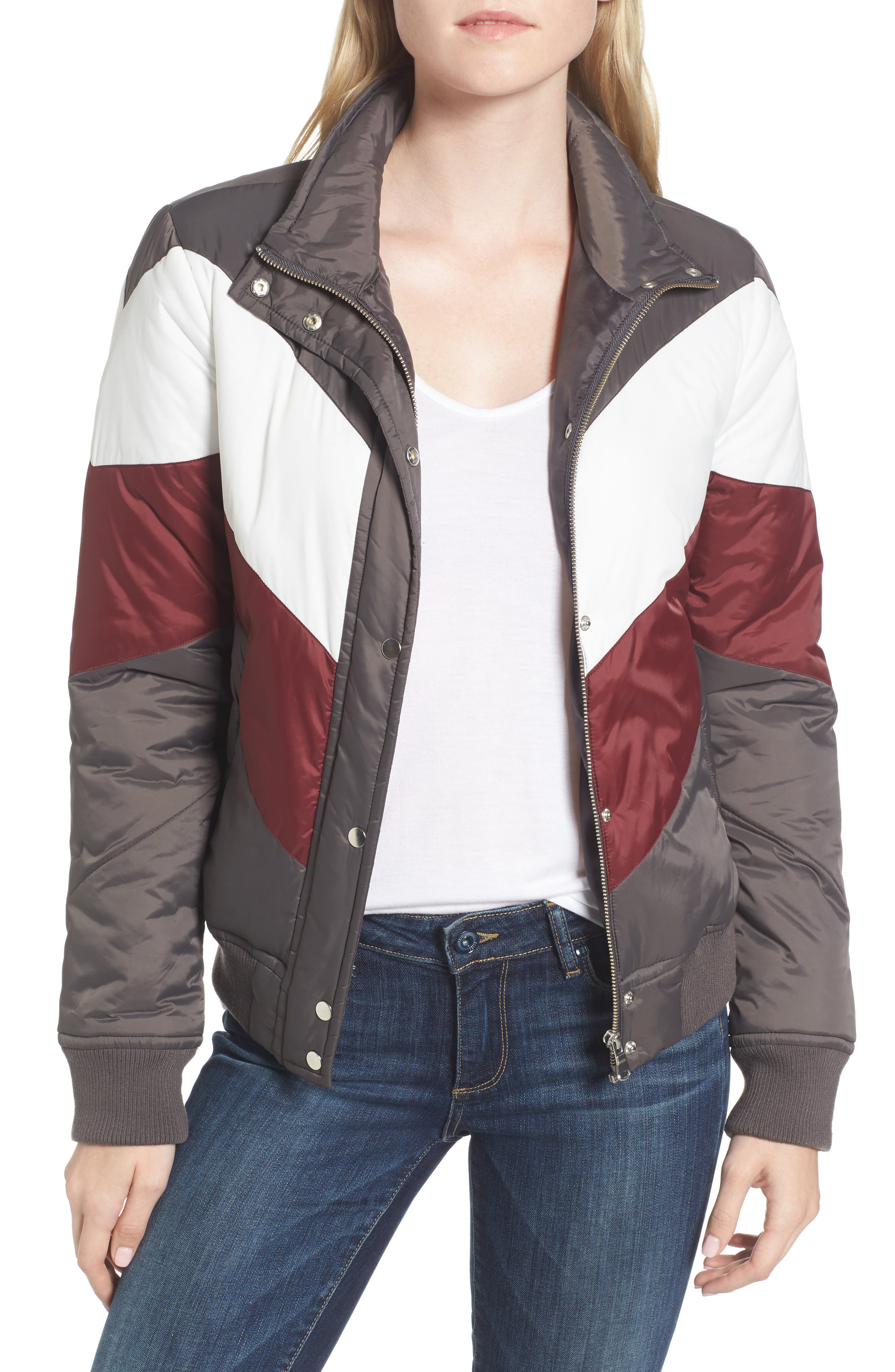 Trouvé Colorblock Quilted Jacket