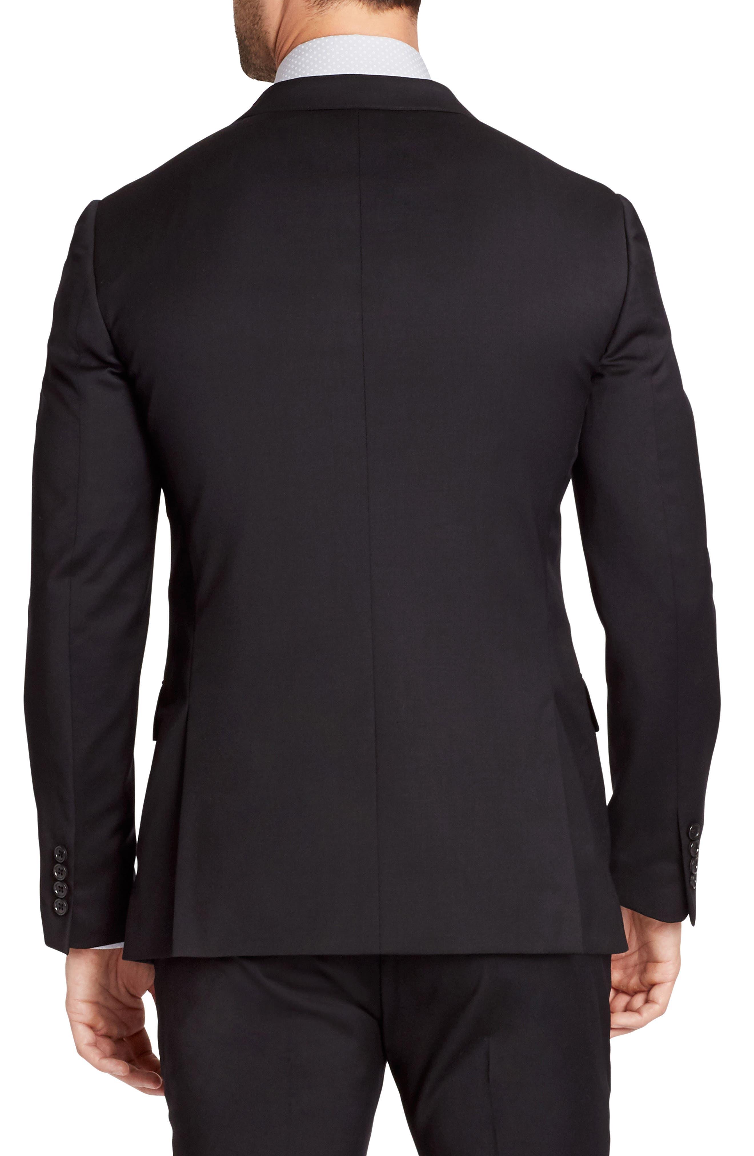 Jetsetter Trim Fit Stretch Wool Suit Jacket,                             Alternate thumbnail 2, color,                             Black