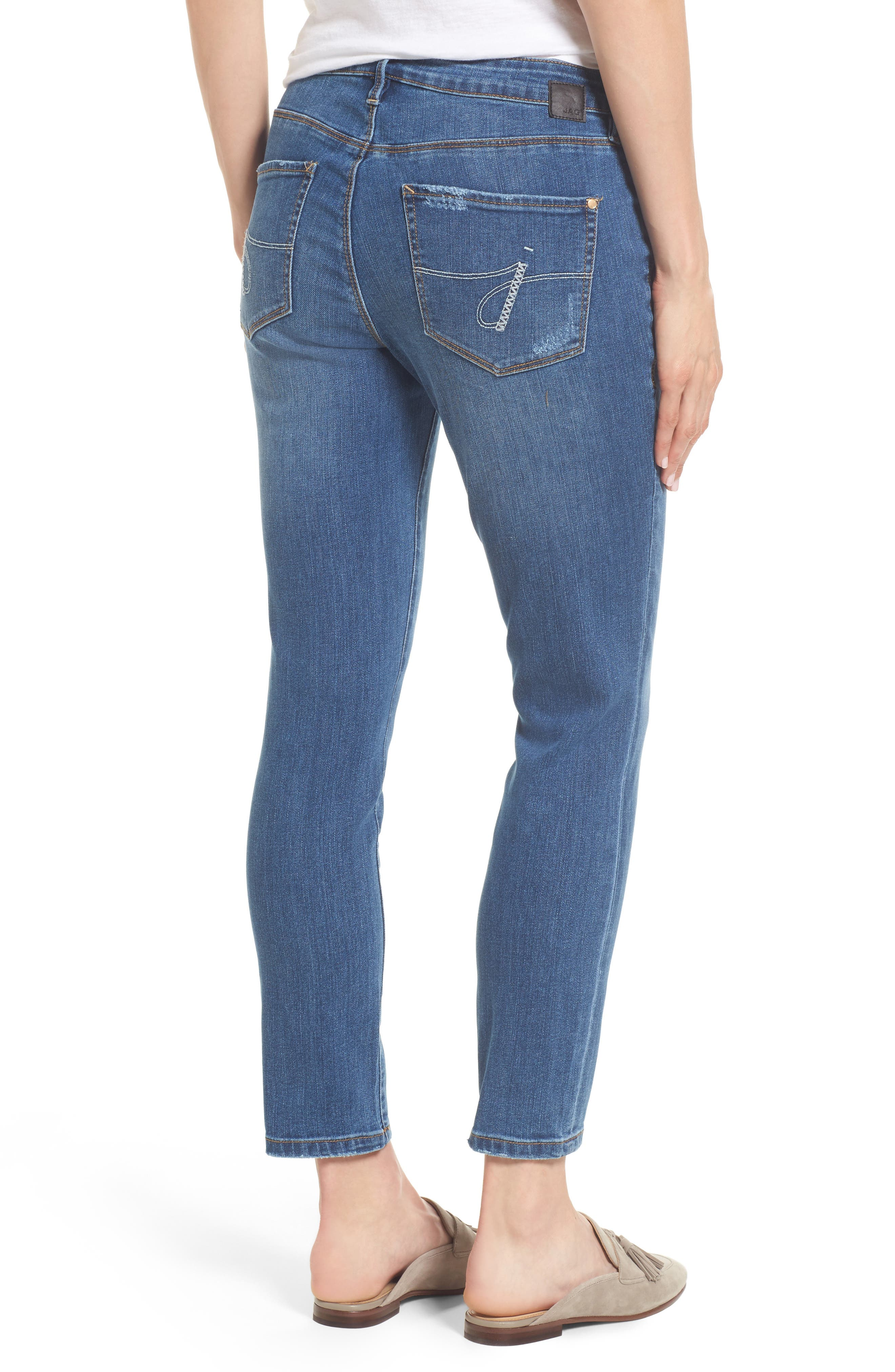 Mera Skinny Ankle Jeans,                             Alternate thumbnail 2, color,                             Mineral Wash