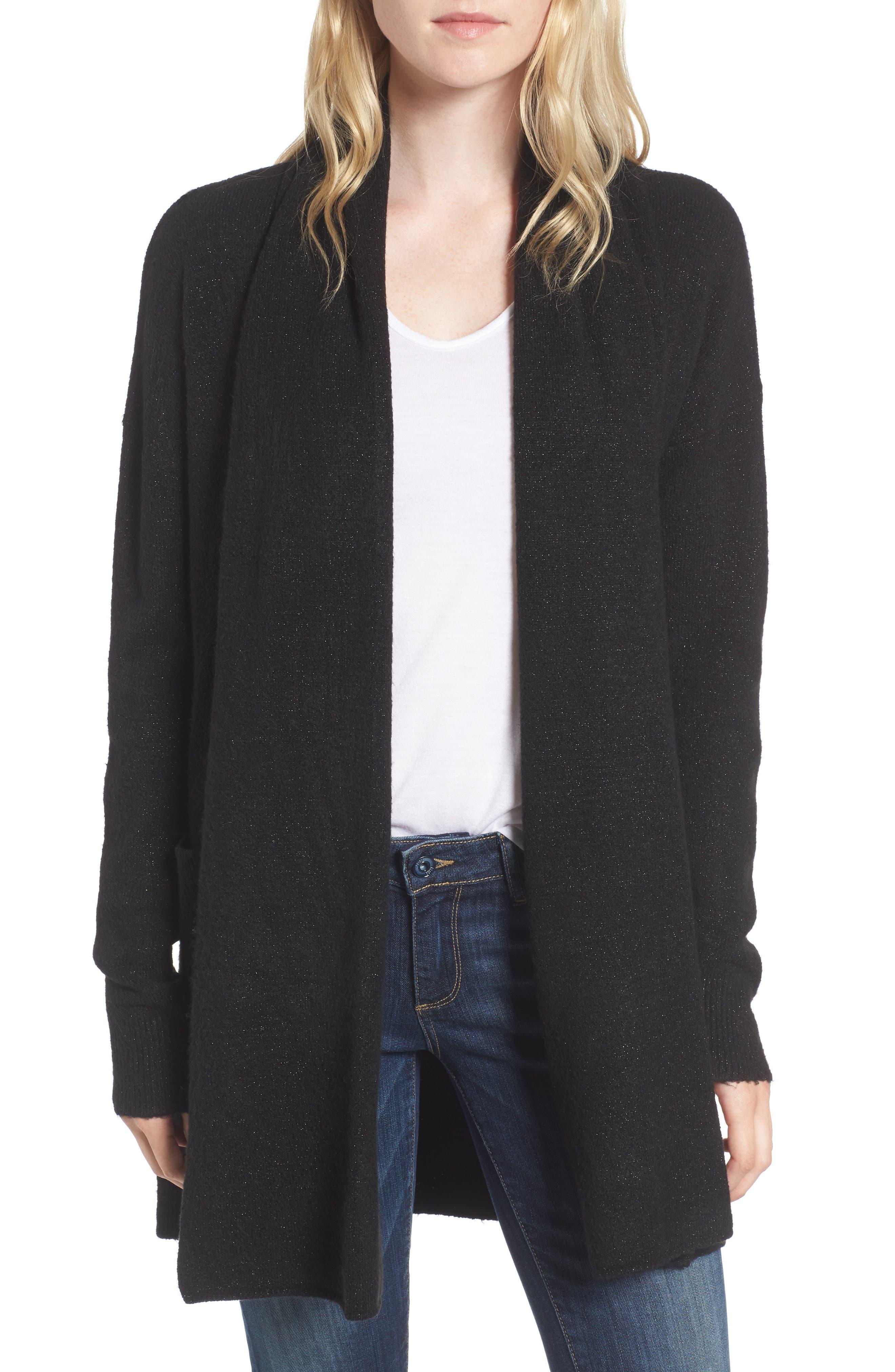 Cardigan Sweater,                         Main,                         color, Black Multi