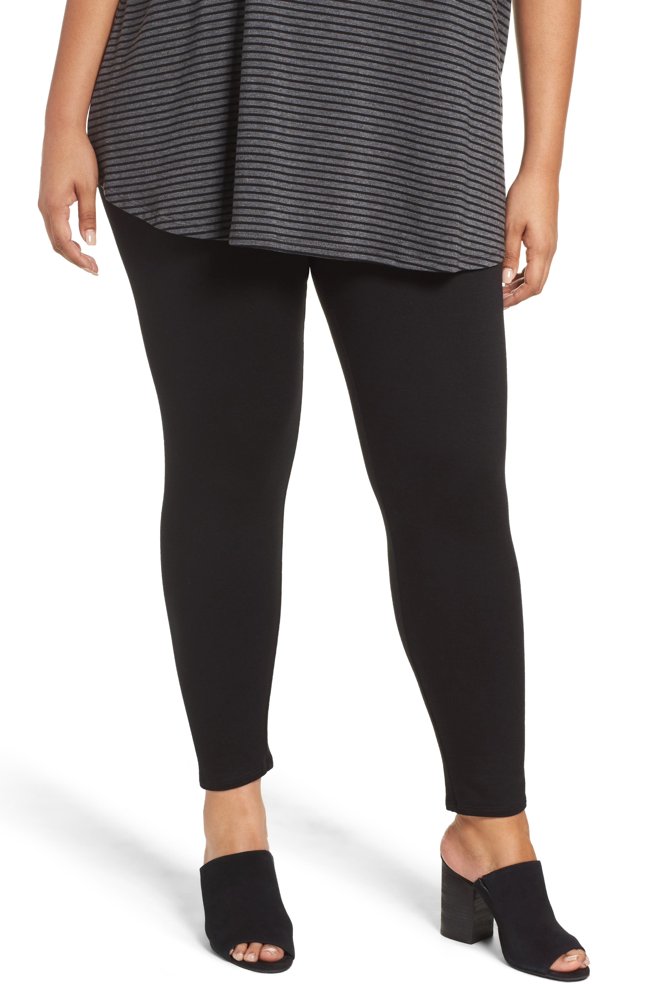 Main Image - Eileen Fisher Ankle Leggings (Plus Size)