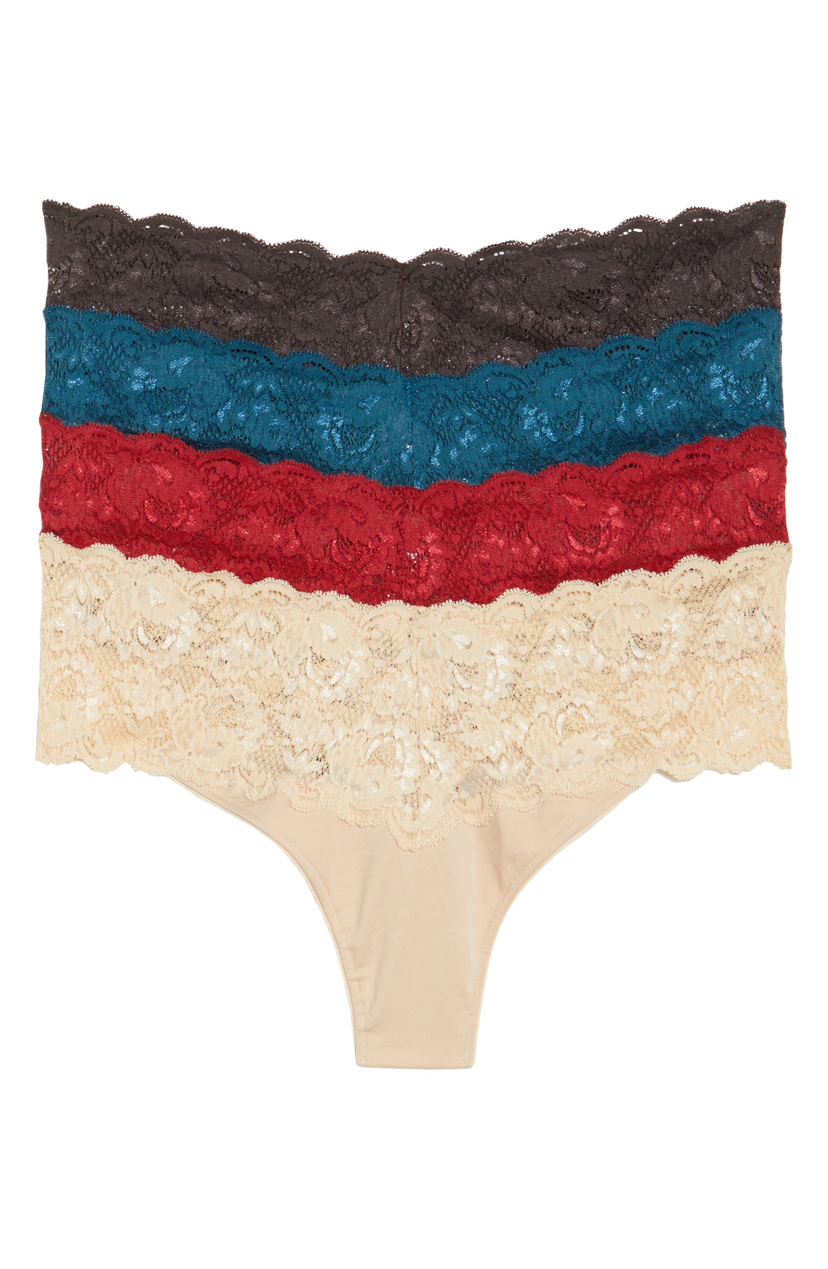 Never Say Never - Box of Love 4-Pack Thongs,                         Main,                         color, Multi