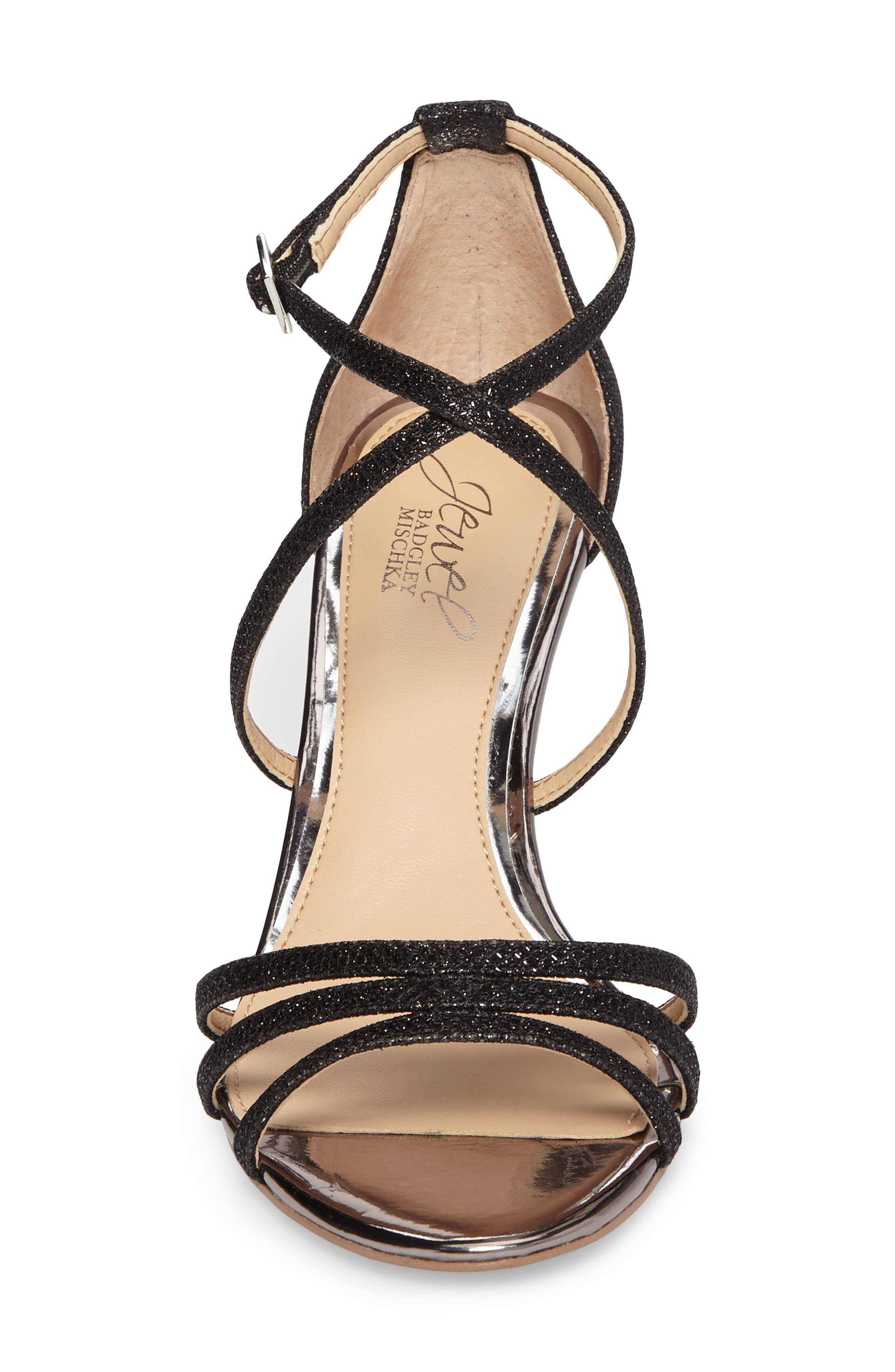 Alternate Image 4  - Jewel Badgley Mischka Hunt Glittery Wedge Sandal (Women)