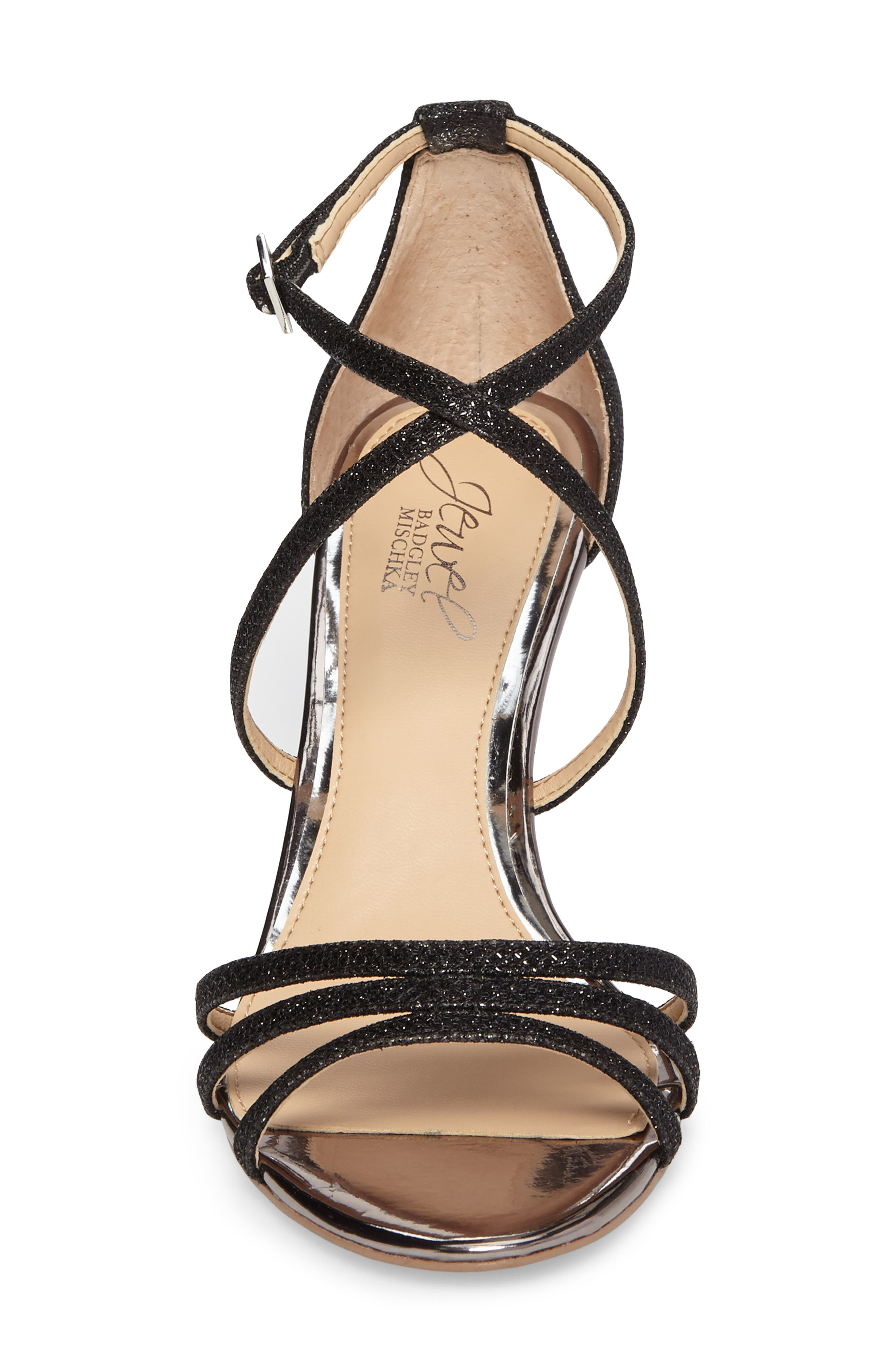 Jewel Badgley Mischka Hunt Glittery Wedge Sandal Women
