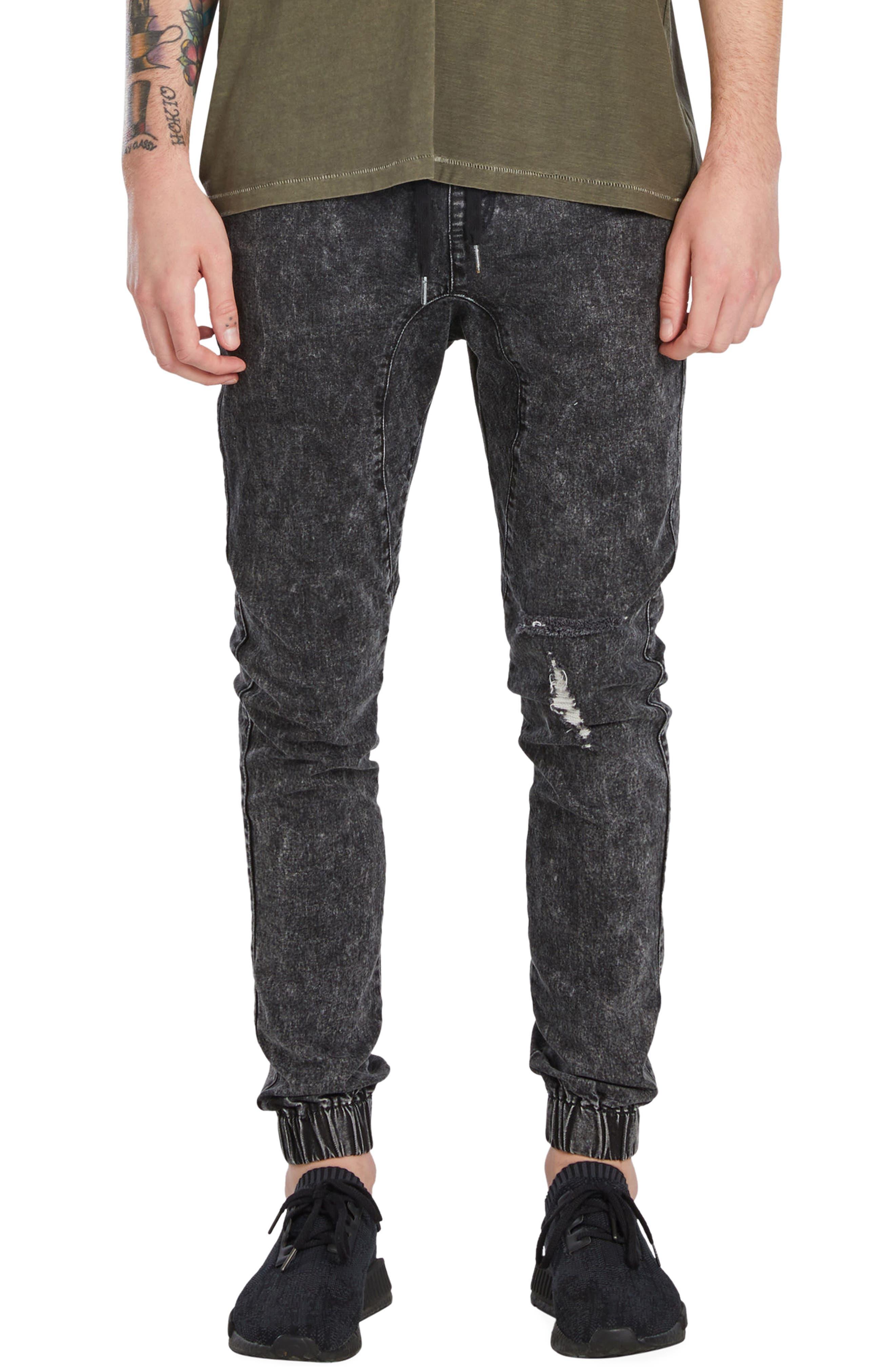 Sureshot Jogger Pants,                         Main,                         color, Black Acid Rip