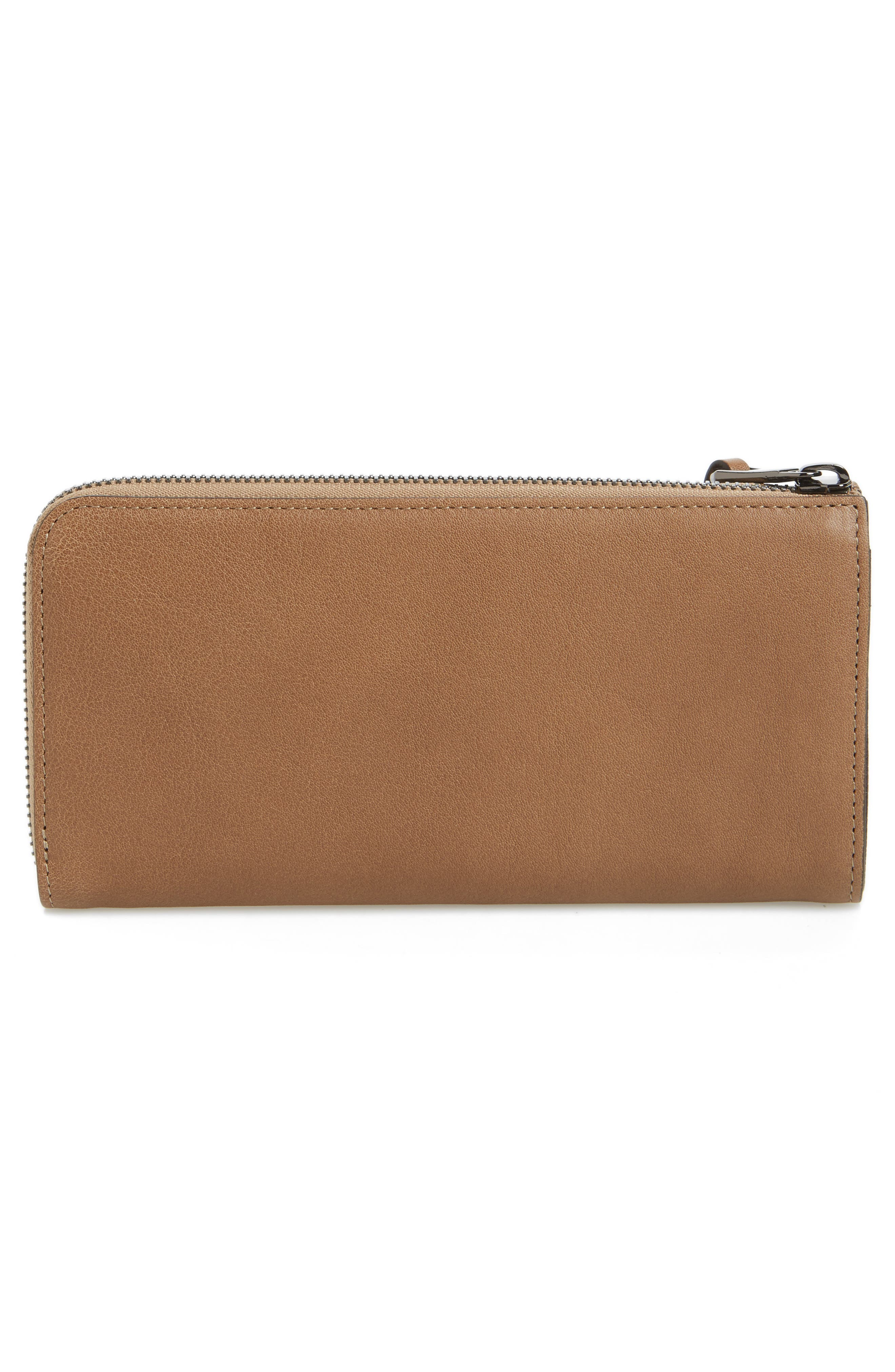 3D Leather Wallet,                             Alternate thumbnail 2, color,                             Taupe