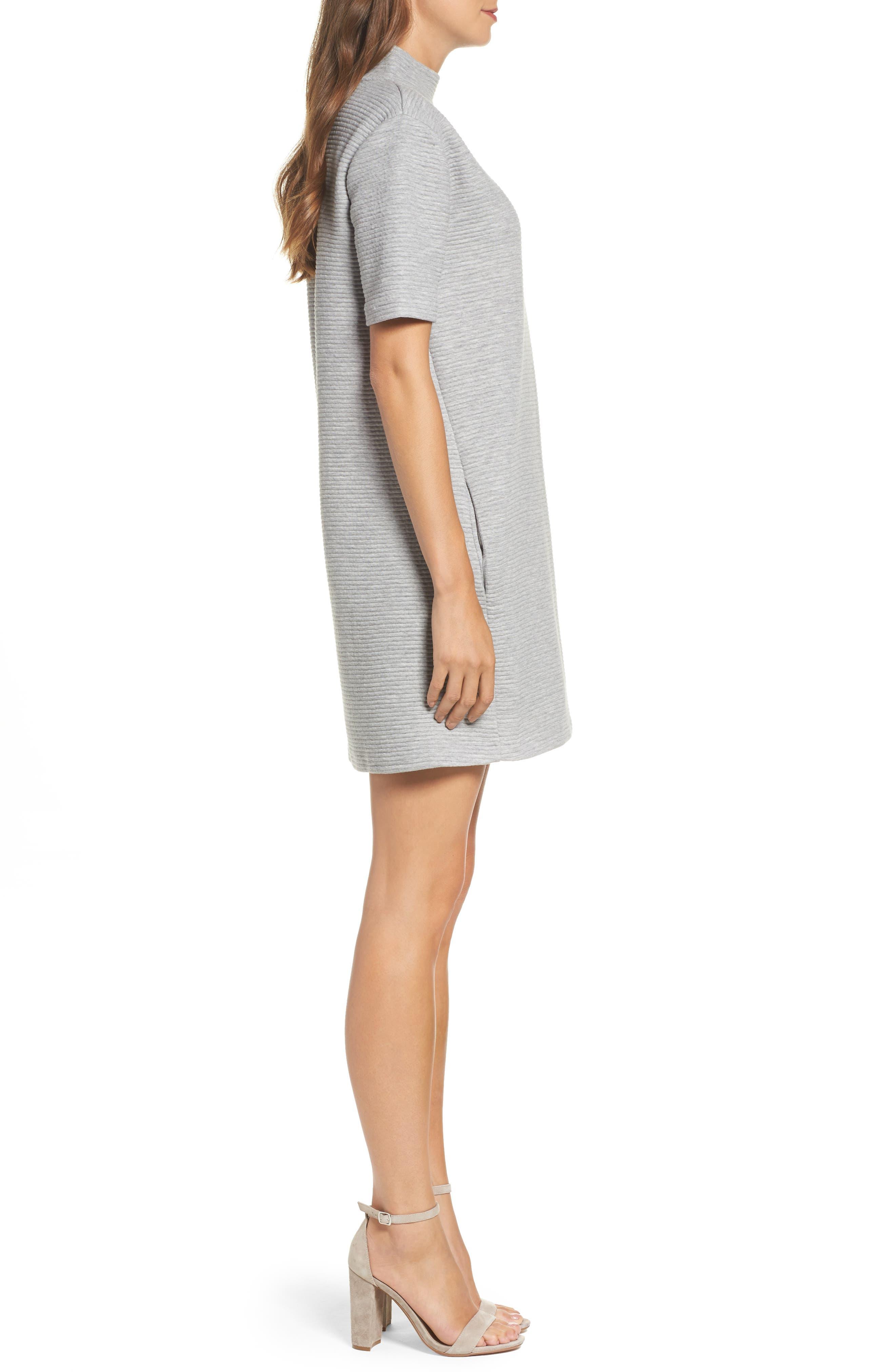 Marian Shift Dress,                             Alternate thumbnail 3, color,                             Light Grey