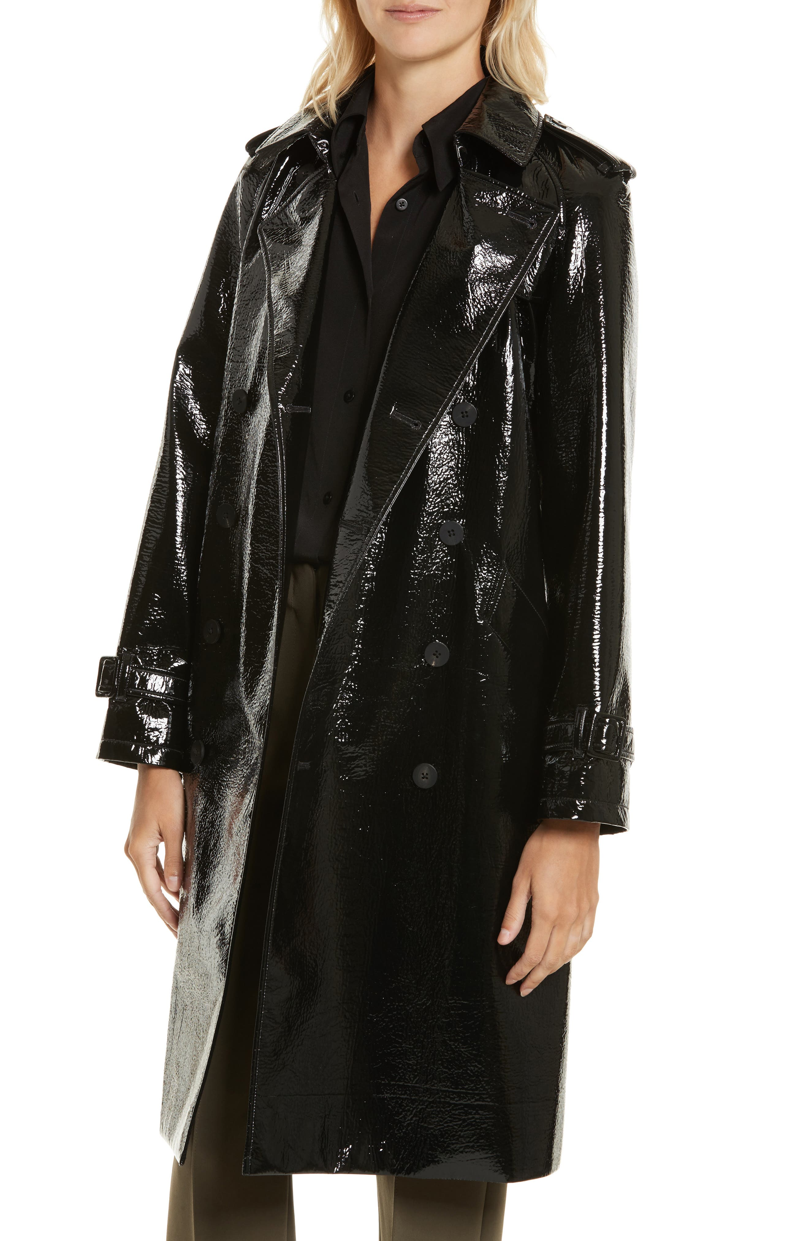 Alternate Image 4  - Diane von Furstenberg Patent Trench Coat