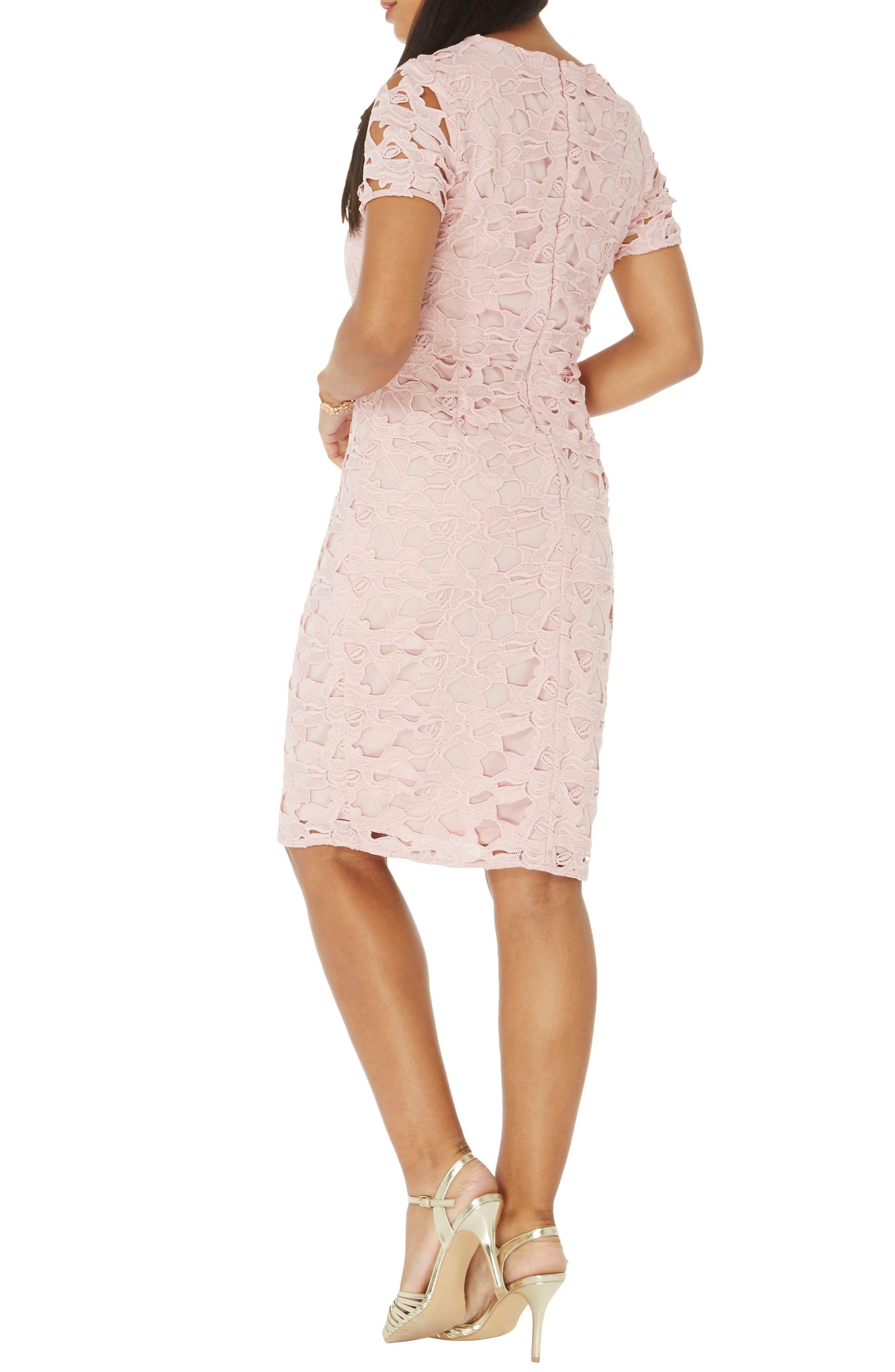 Alternate Image 2  - Dorothy Perkins Lace Sheath Dress