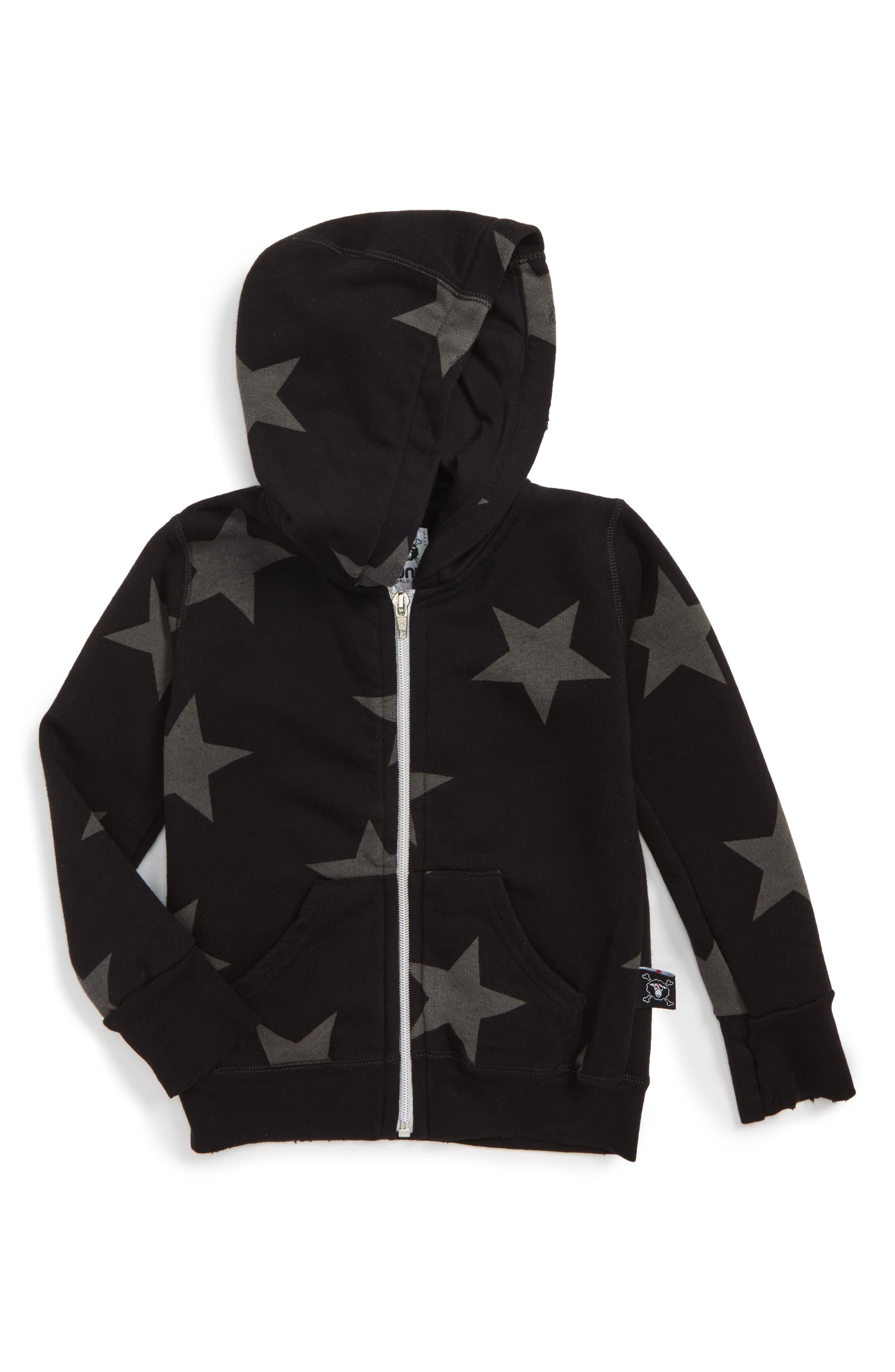 NUNUNU Star Print Zip Hoodie (Baby)