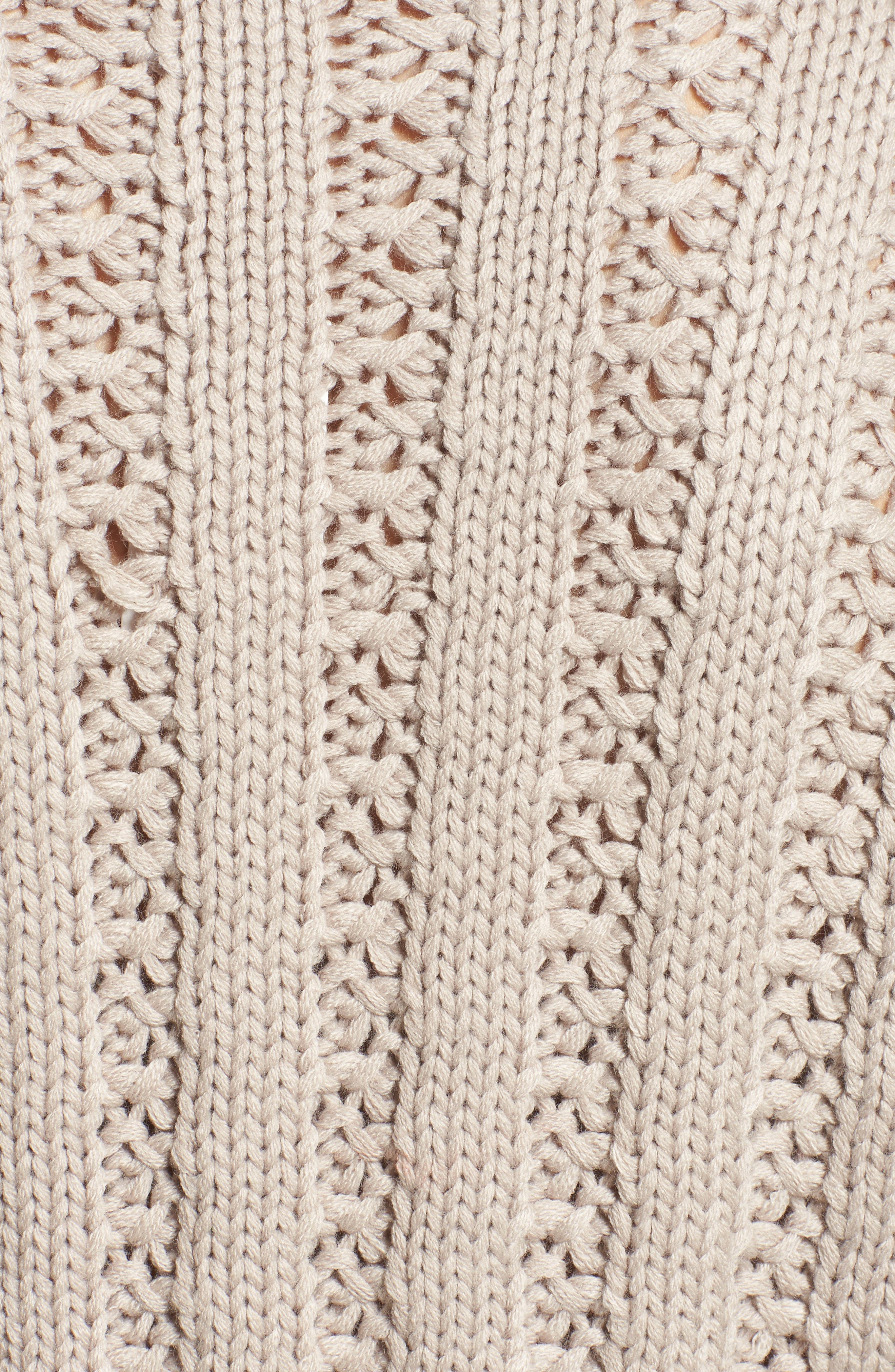 Chunky Textured Sweater,                             Alternate thumbnail 5, color,                             Heather Grey
