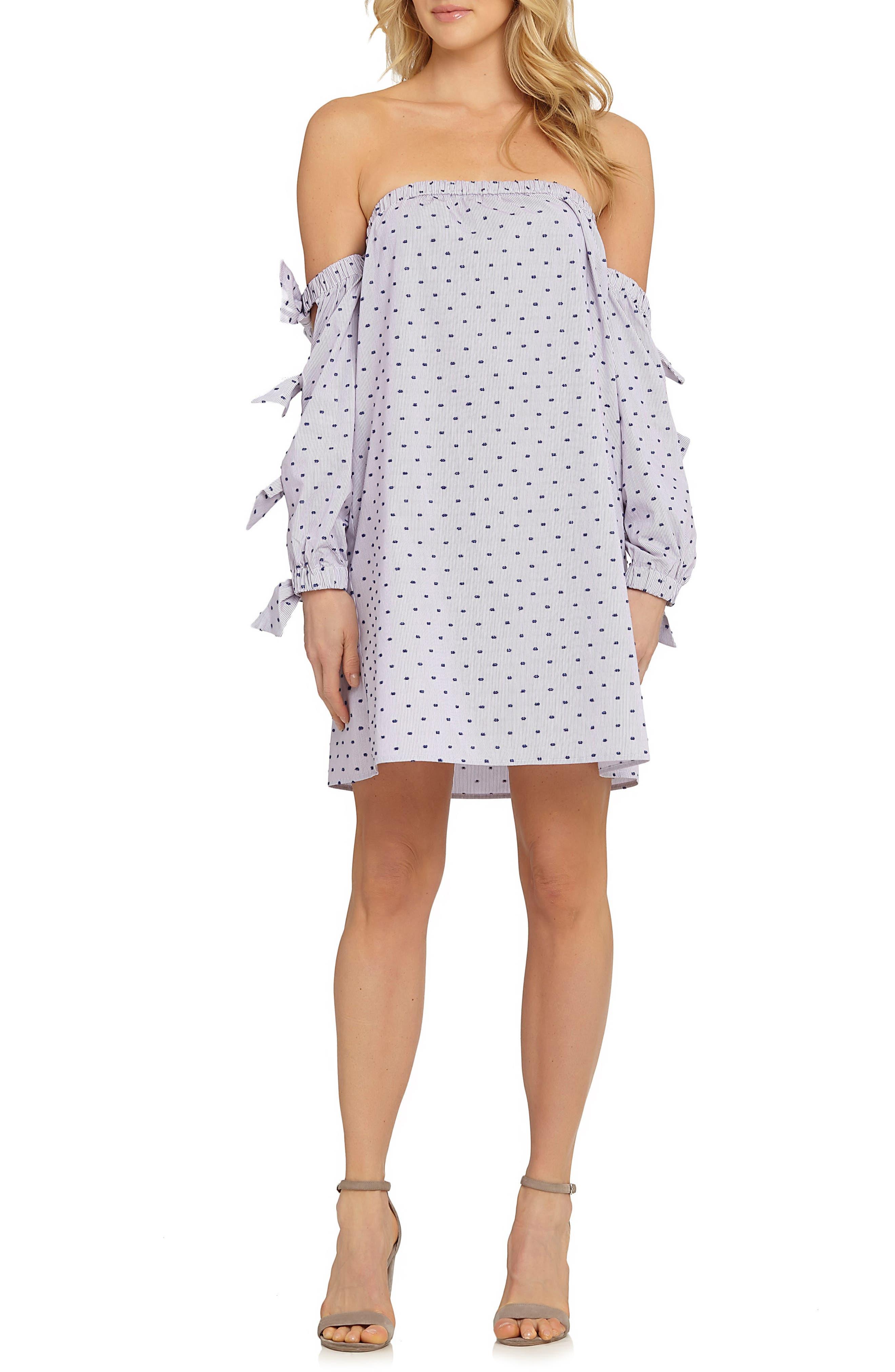 CeCe Kellen Cotton Shift Dress