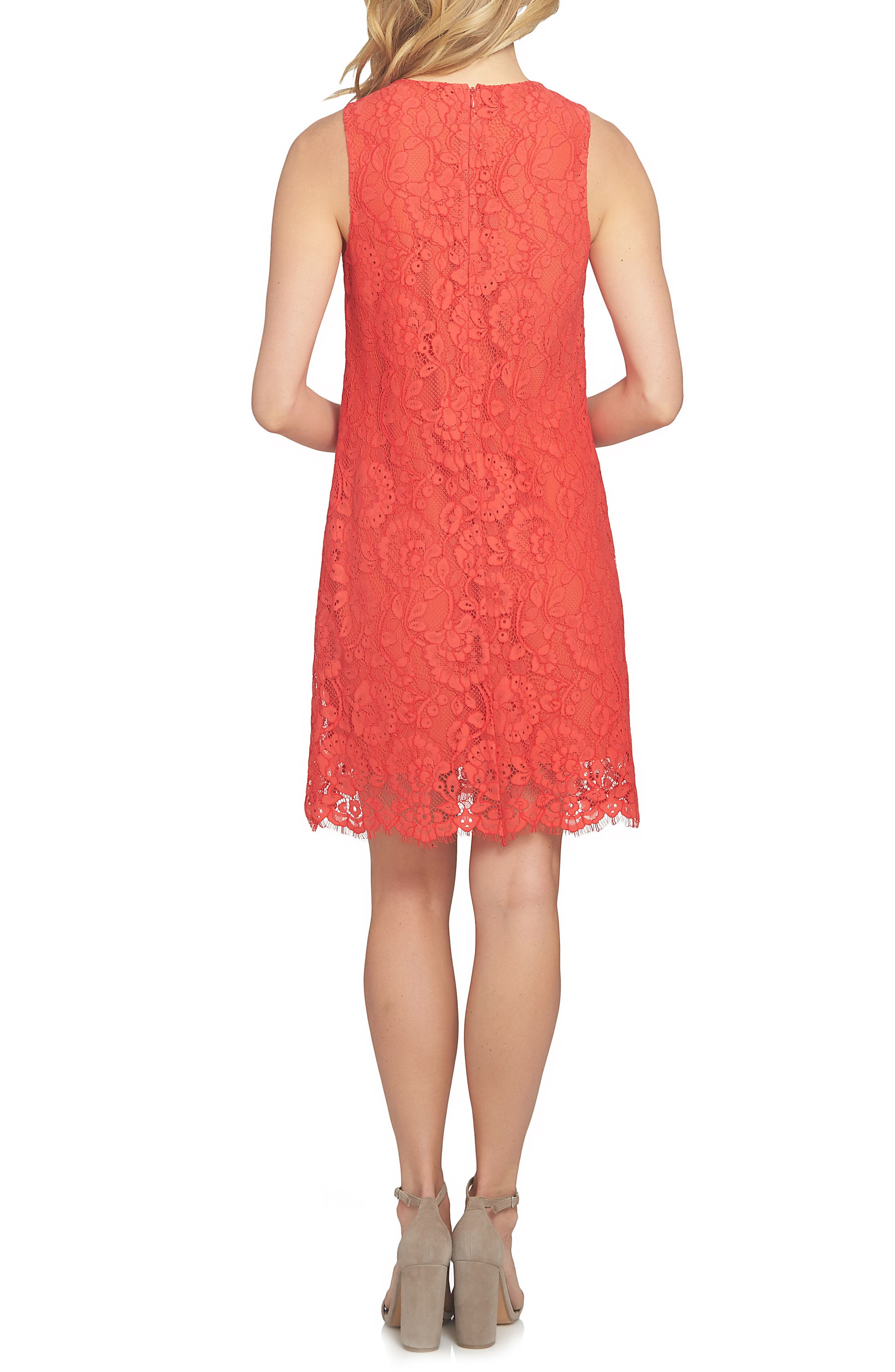 Arlington A-Line Dress,                             Alternate thumbnail 2, color,                             Fiery Red