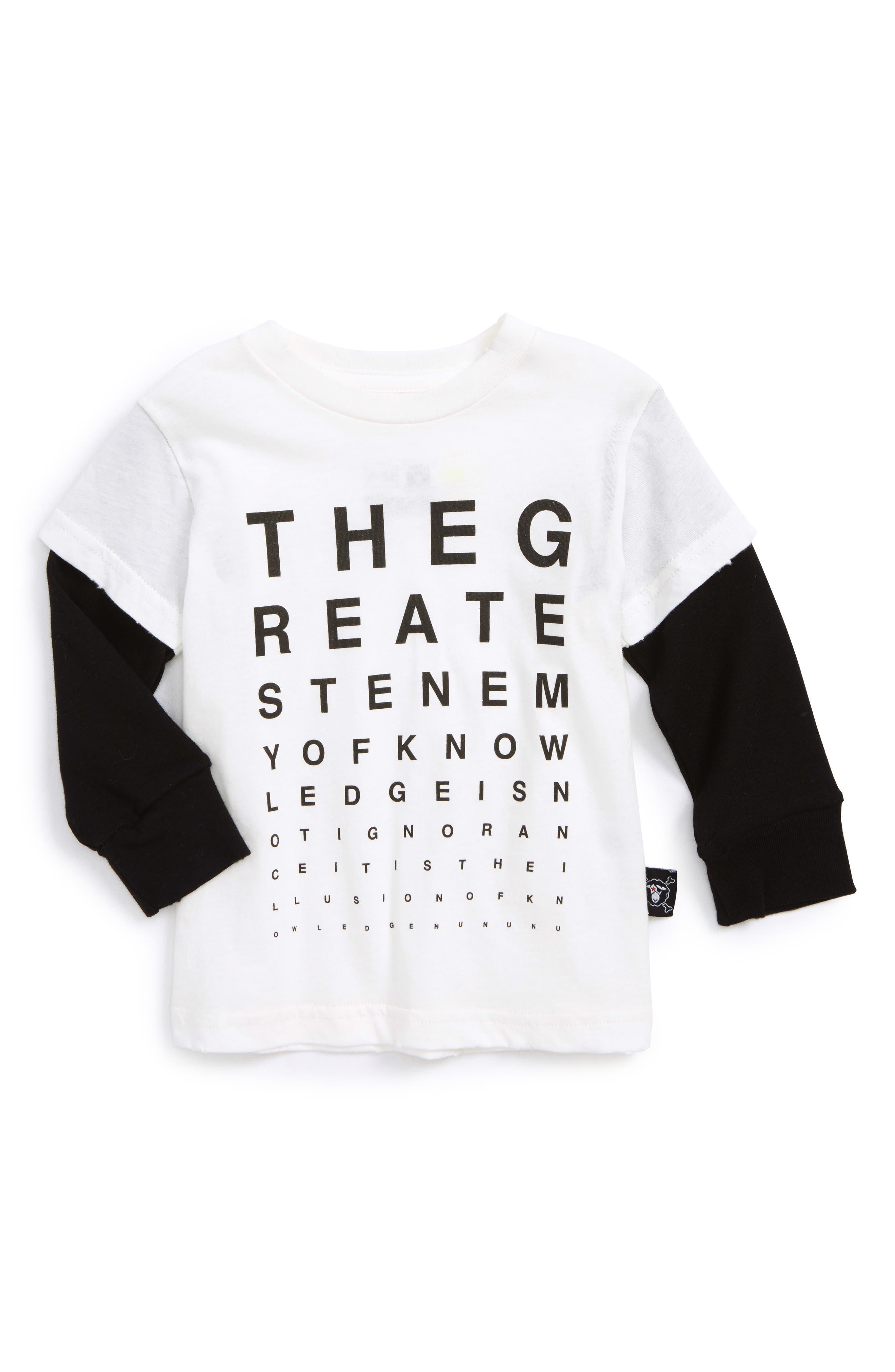 NUNUNU Vision Test Graphic T-Shirt (Baby Boys)
