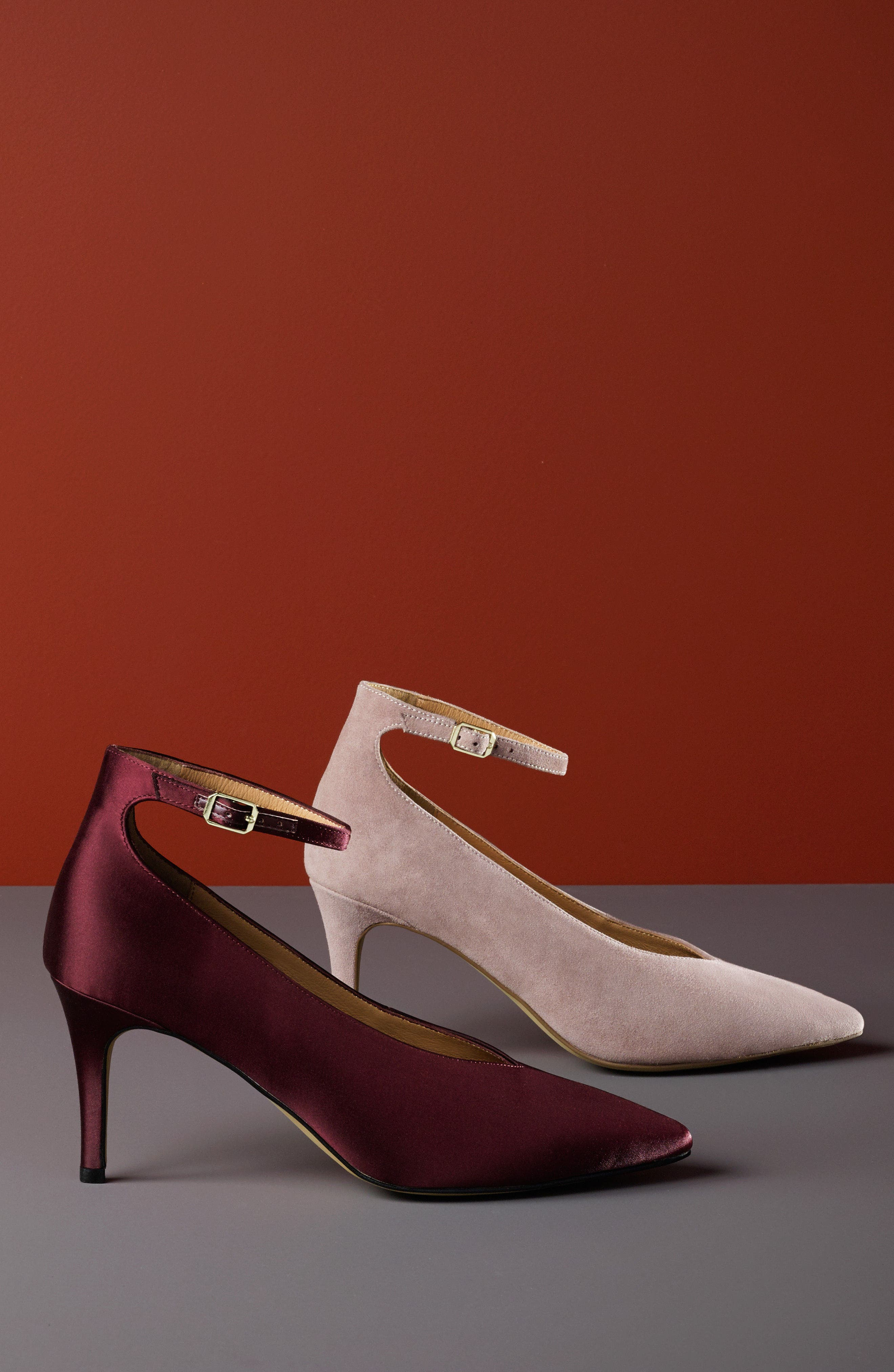 Azaela Ankle Strap Pump,                             Alternate thumbnail 2, color,