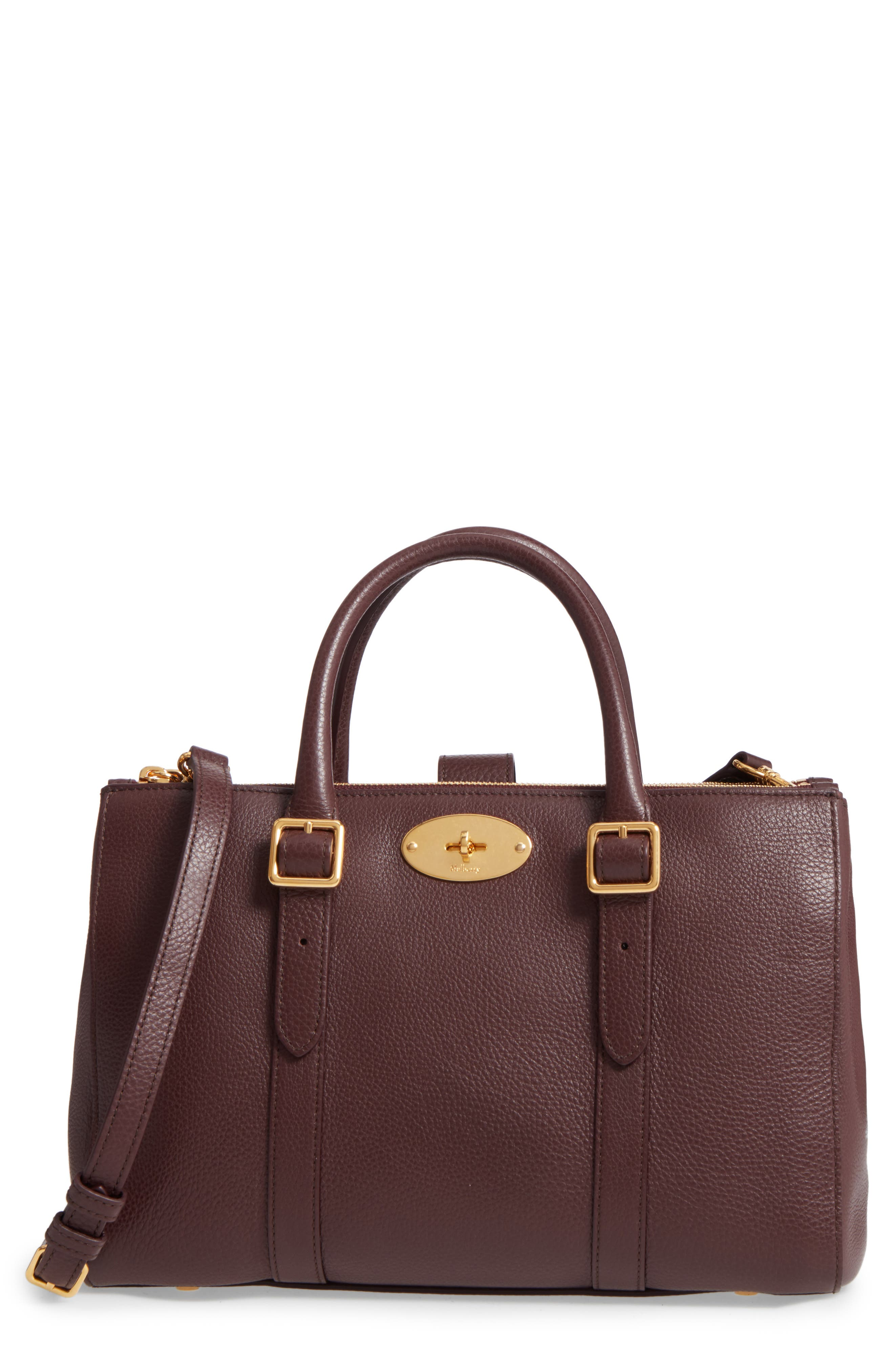 Main Image - Mulberry Small Bayswater Double Zip Leather Satchel