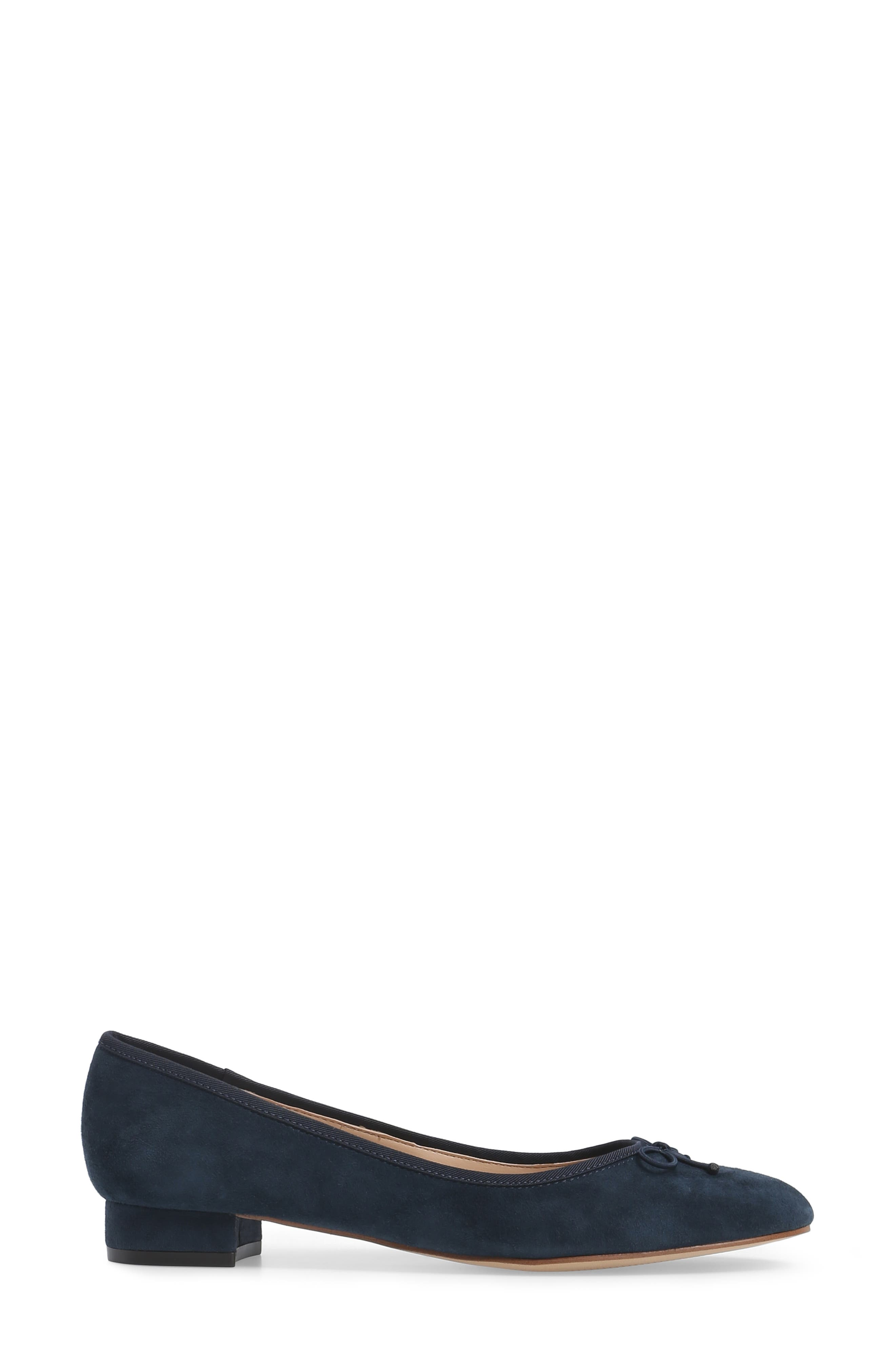Anastasi Block Heel Flat,                             Alternate thumbnail 3, color,                             Ombre Blue Suede