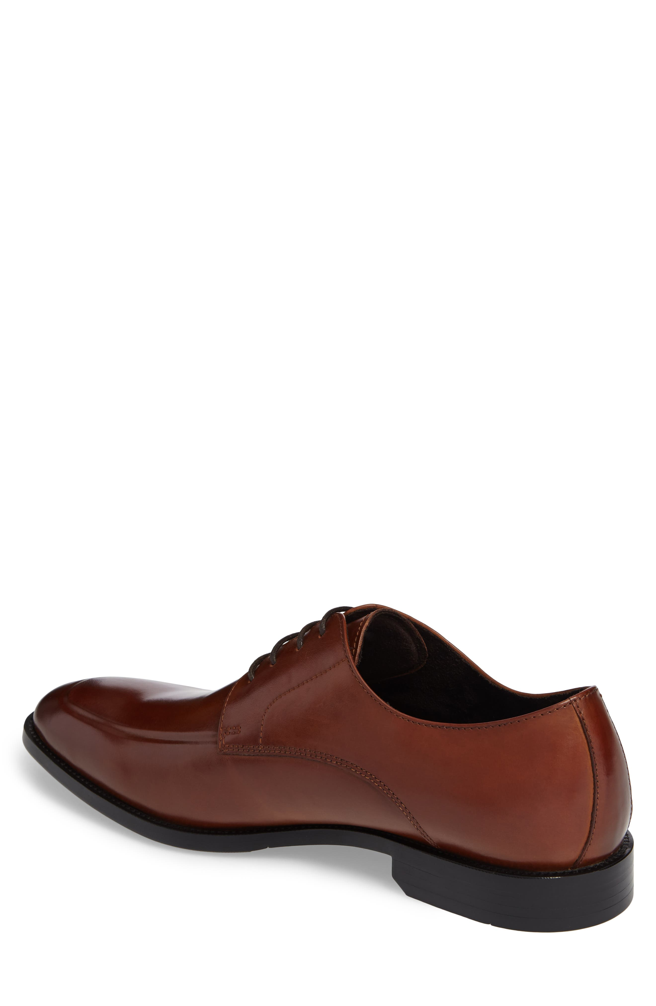 Apron Toe Derby,                             Alternate thumbnail 2, color,                             Brandy Leather