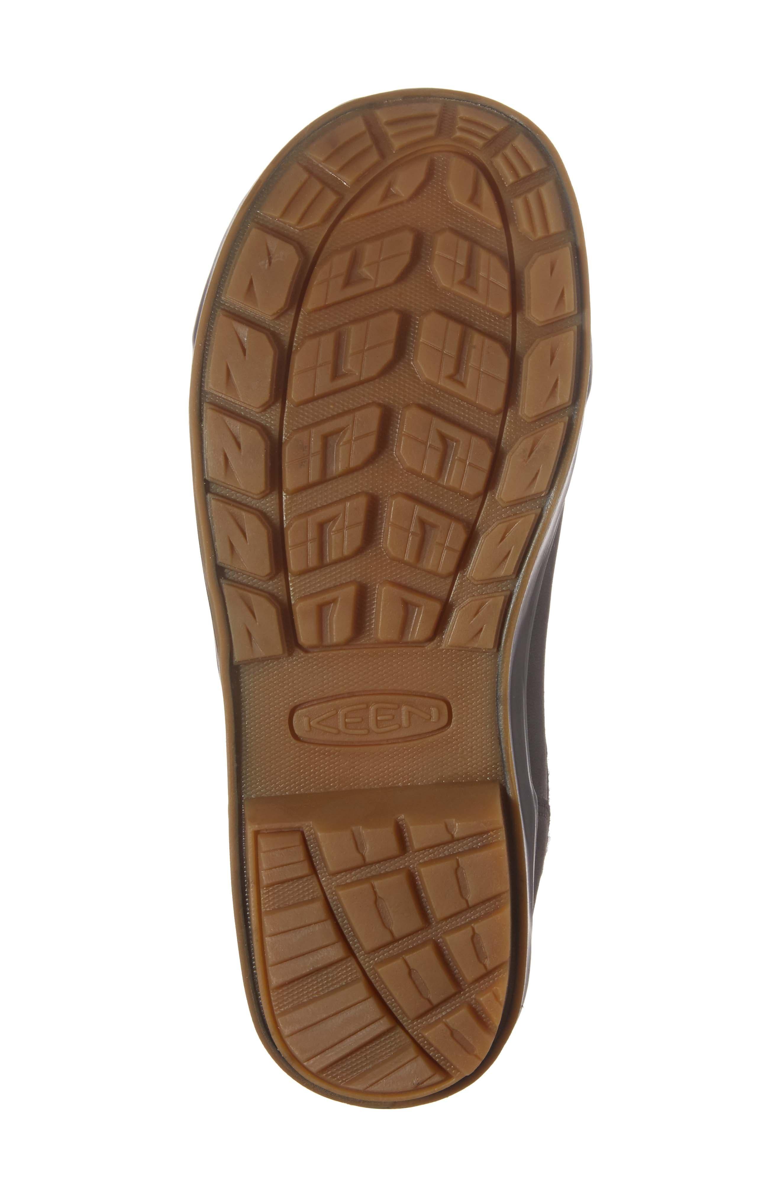 Elsa Chelsea Waterproof Faux Fur Lined Boot,                             Alternate thumbnail 6, color,                             Black Wool Leather