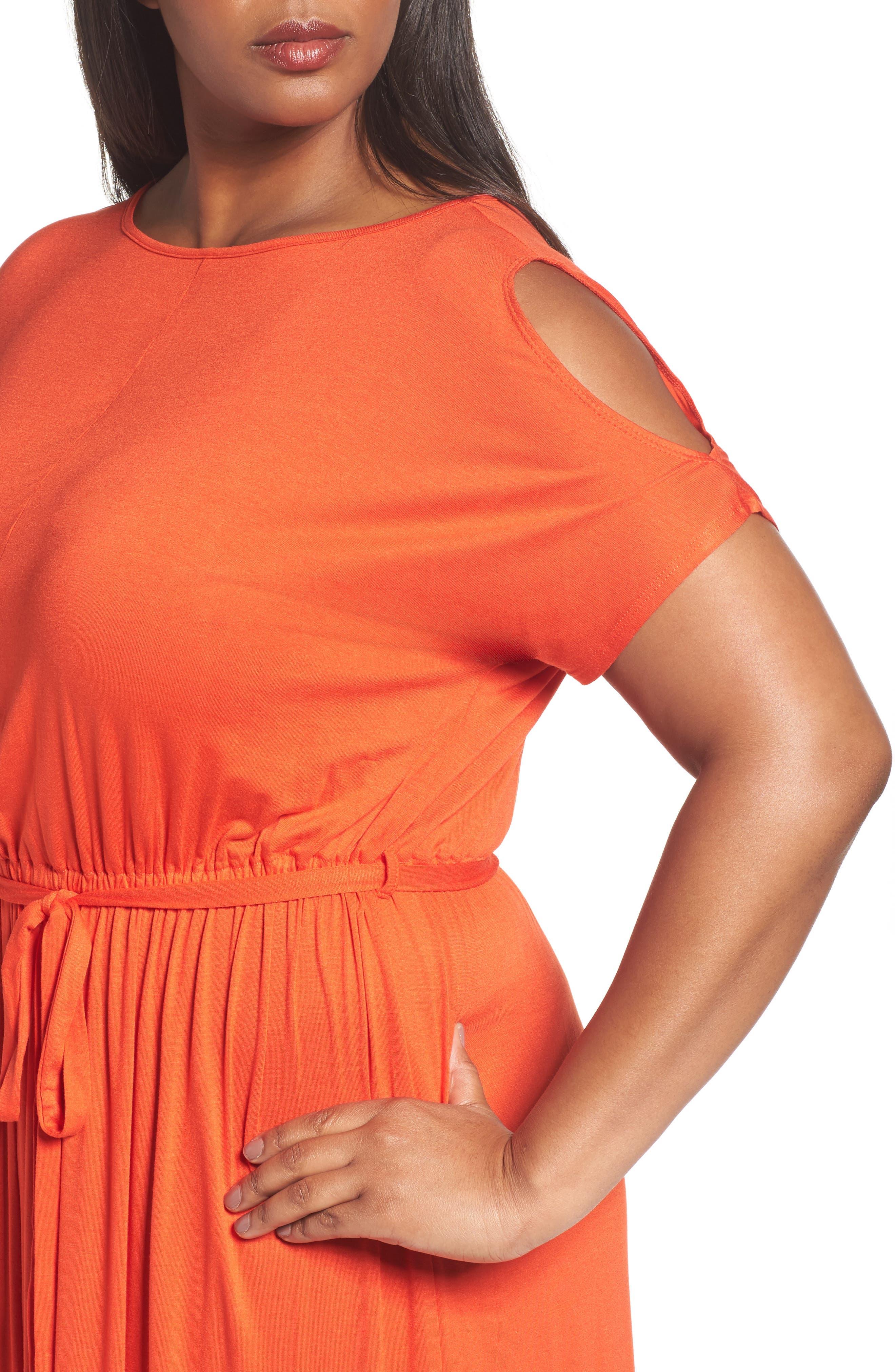Alternate Image 4  - Dorothy Perkins Jersey Cold Shoulder Maxi Dress (Plus Size)
