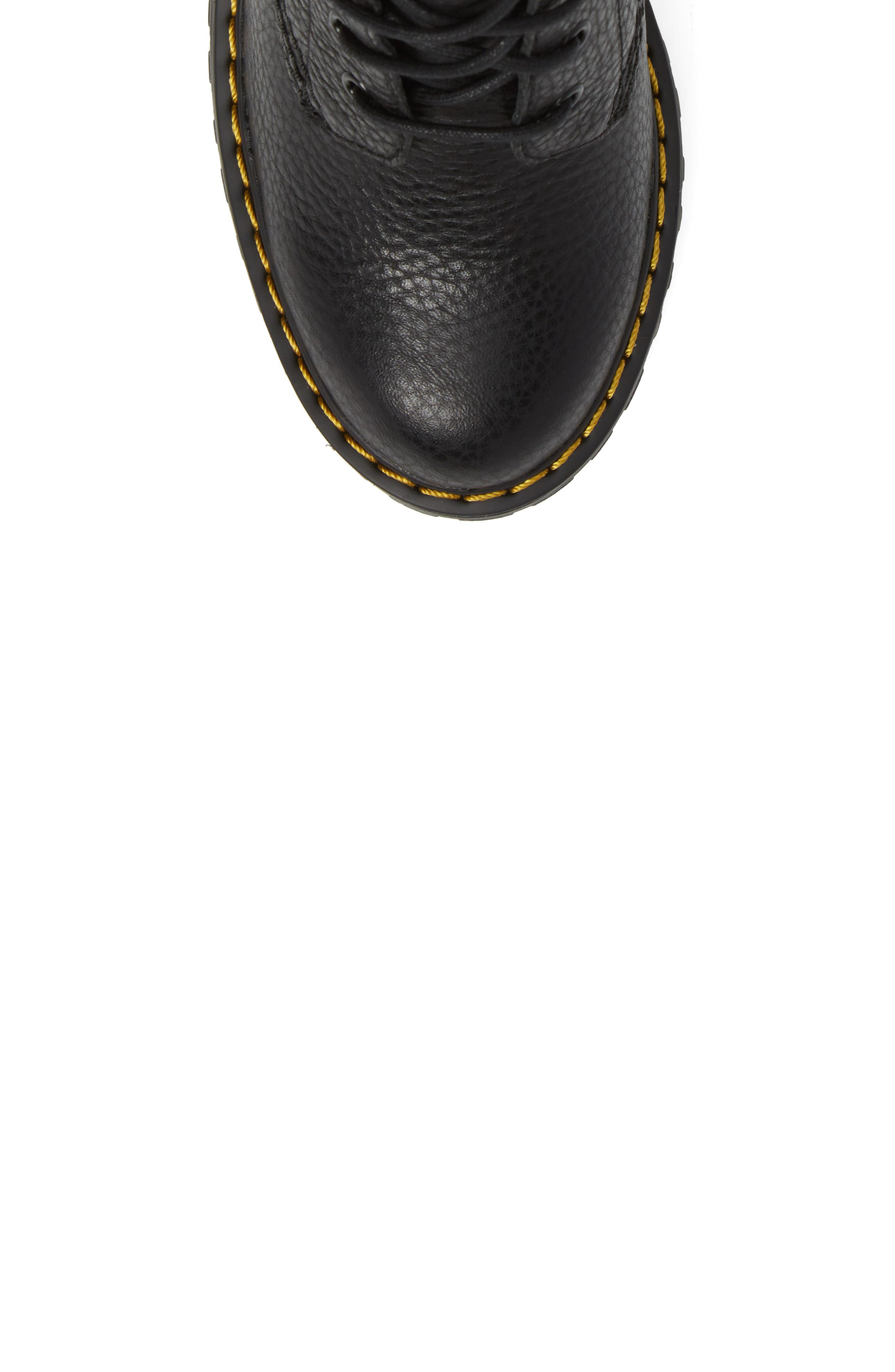 Persephone Platform Boot,                             Alternate thumbnail 5, color,                             Black Leather