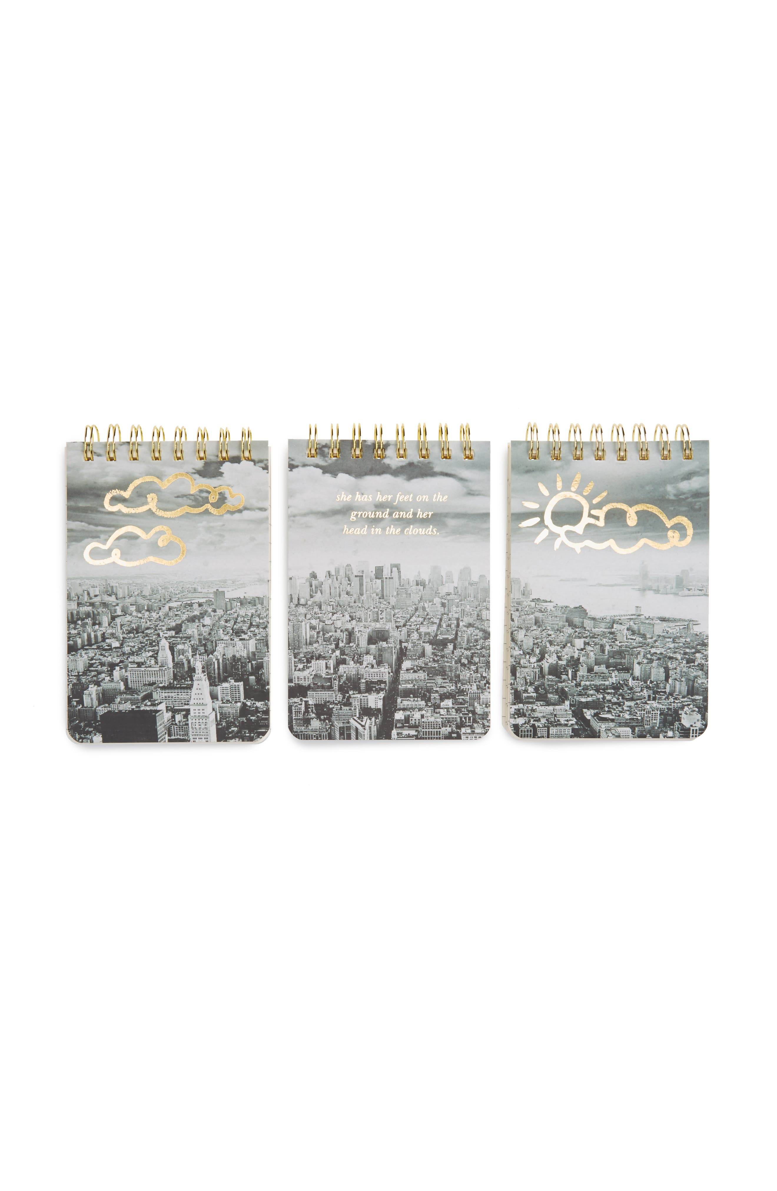 Alternate Image 1 Selected - kate spade new york set of 3 mini spiral notepads