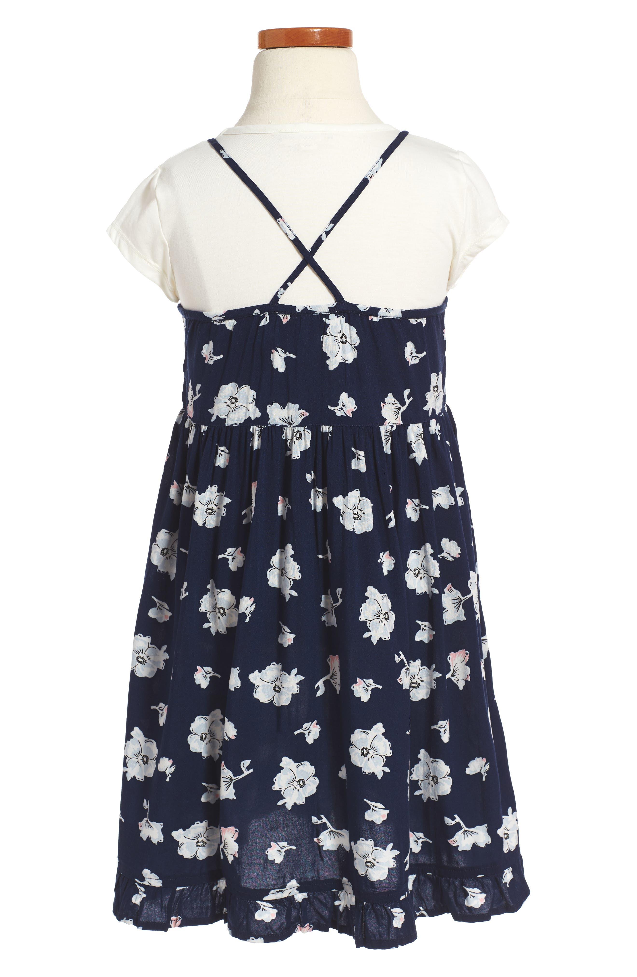 Easy Tee & Dress Set,                             Alternate thumbnail 2, color,                             Navy Peacoat Feminine Floral