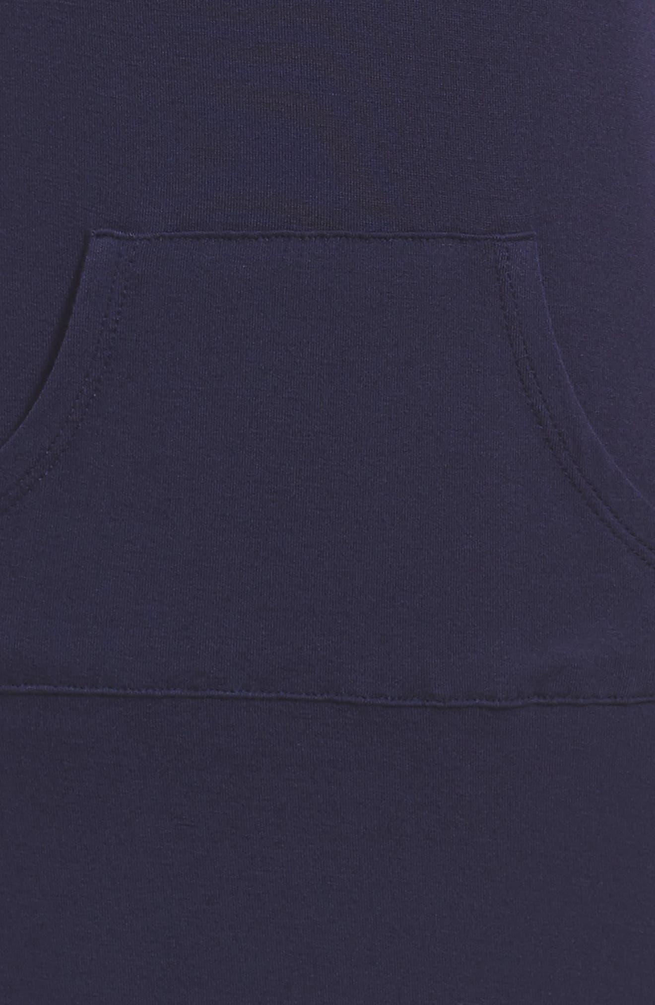 Knit Hoodie Dress,                             Alternate thumbnail 3, color,                             Eclipse