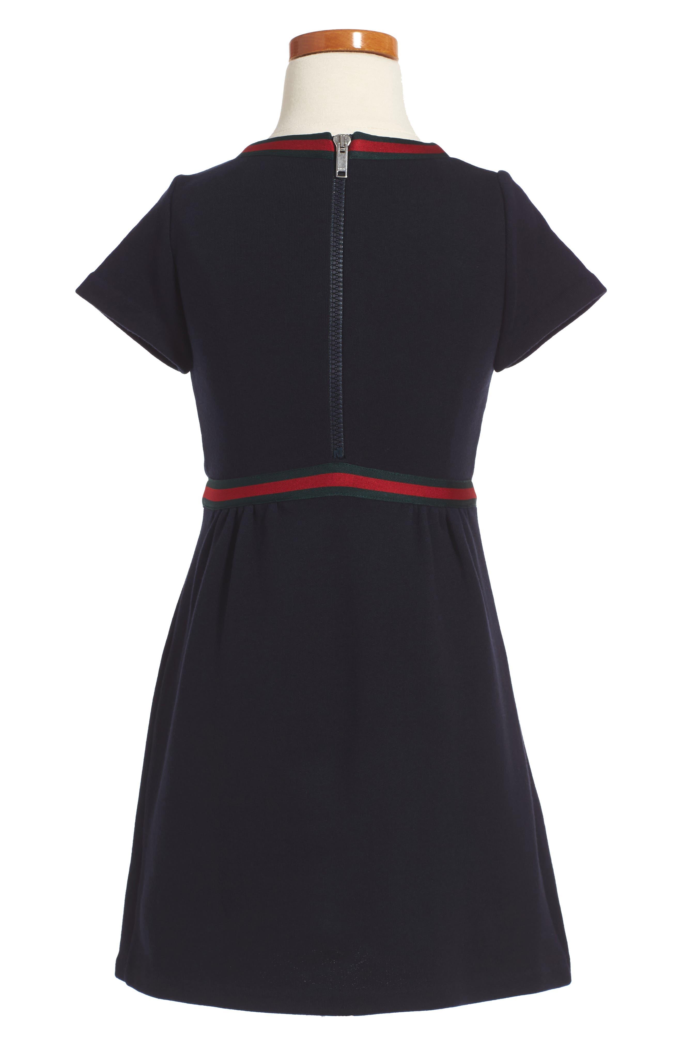 Alternate Image 2  - Gucci Stripe A-Line Dress (Little Girls & Big Girls)