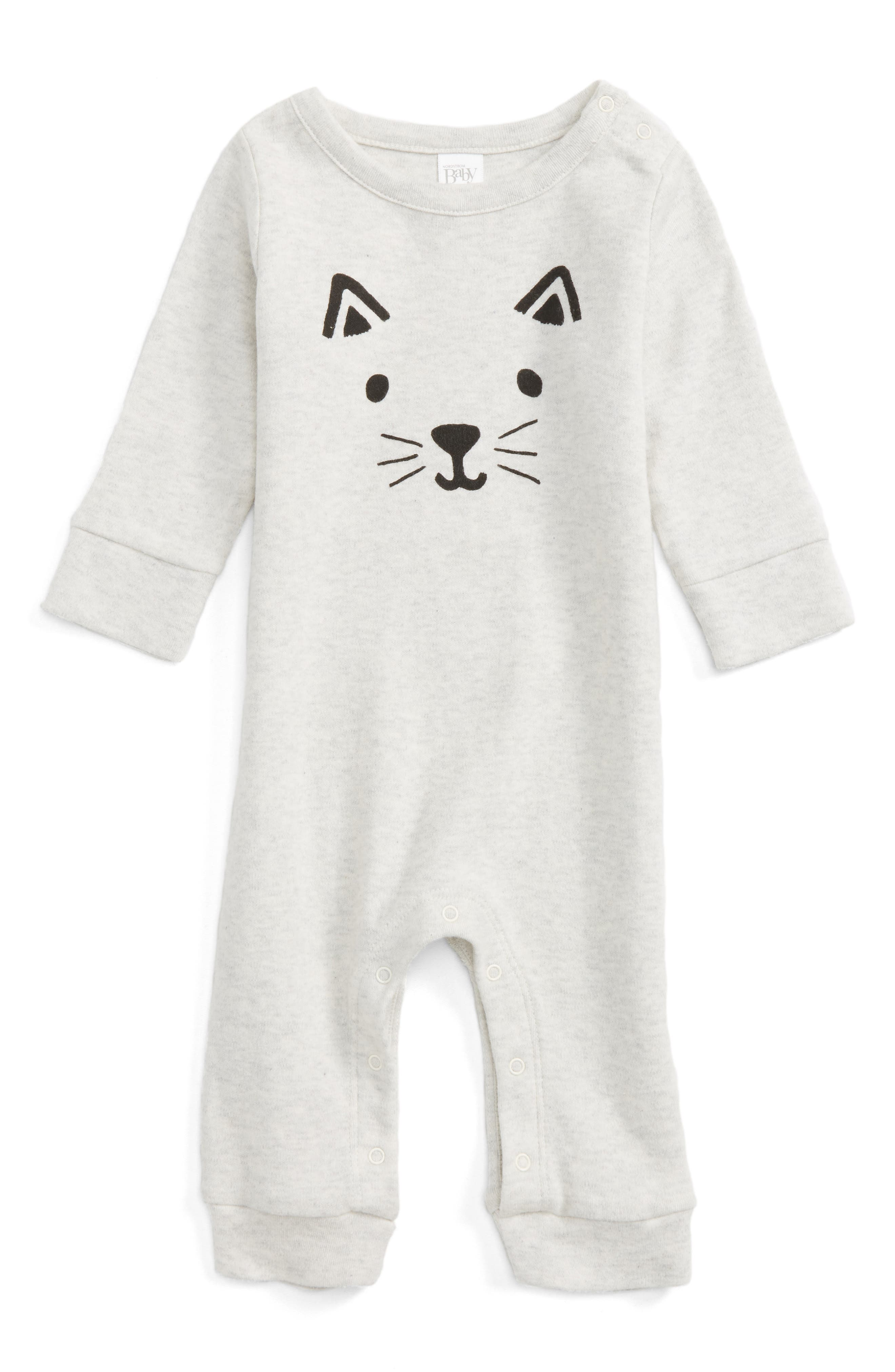 Main Image - Nordstrom Baby Cat Face Romper (Baby)