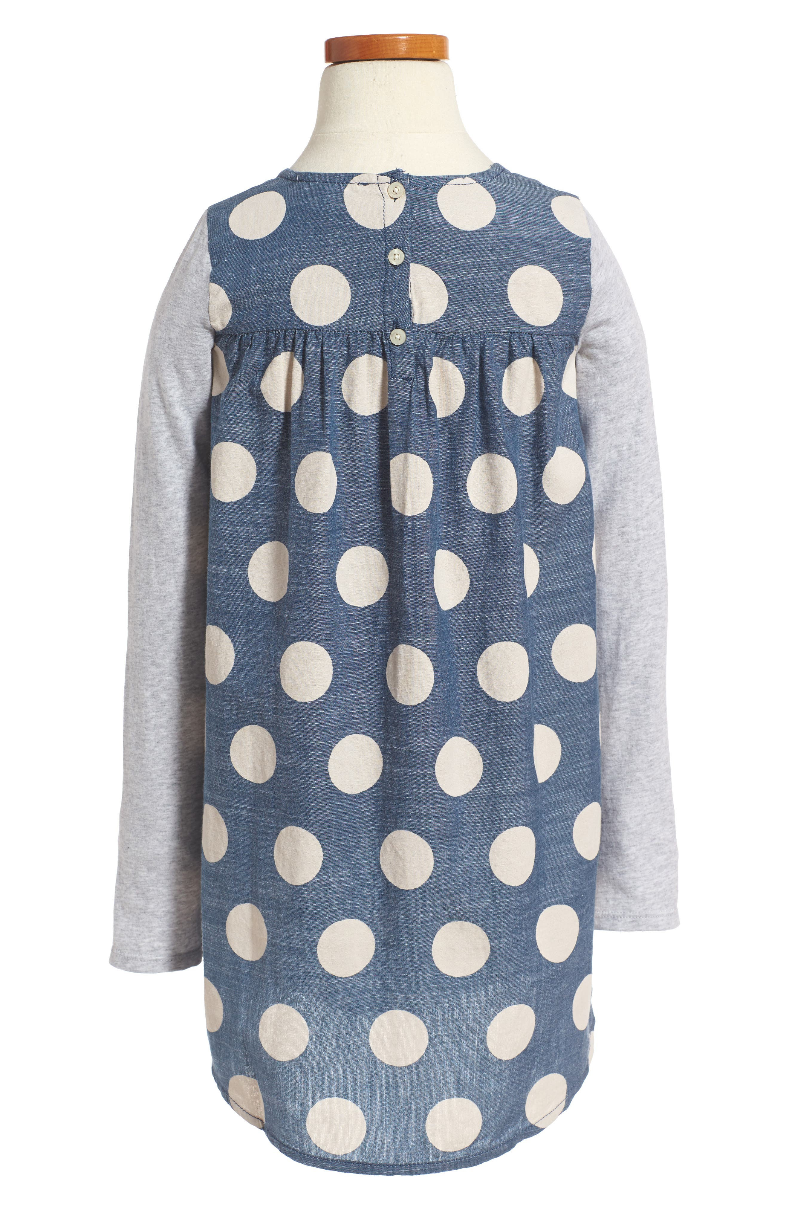 Alternate Image 2  - Tucker + Tate Big Dot Woven Dress (Toddler Girls, Little Girls & Big Girls)