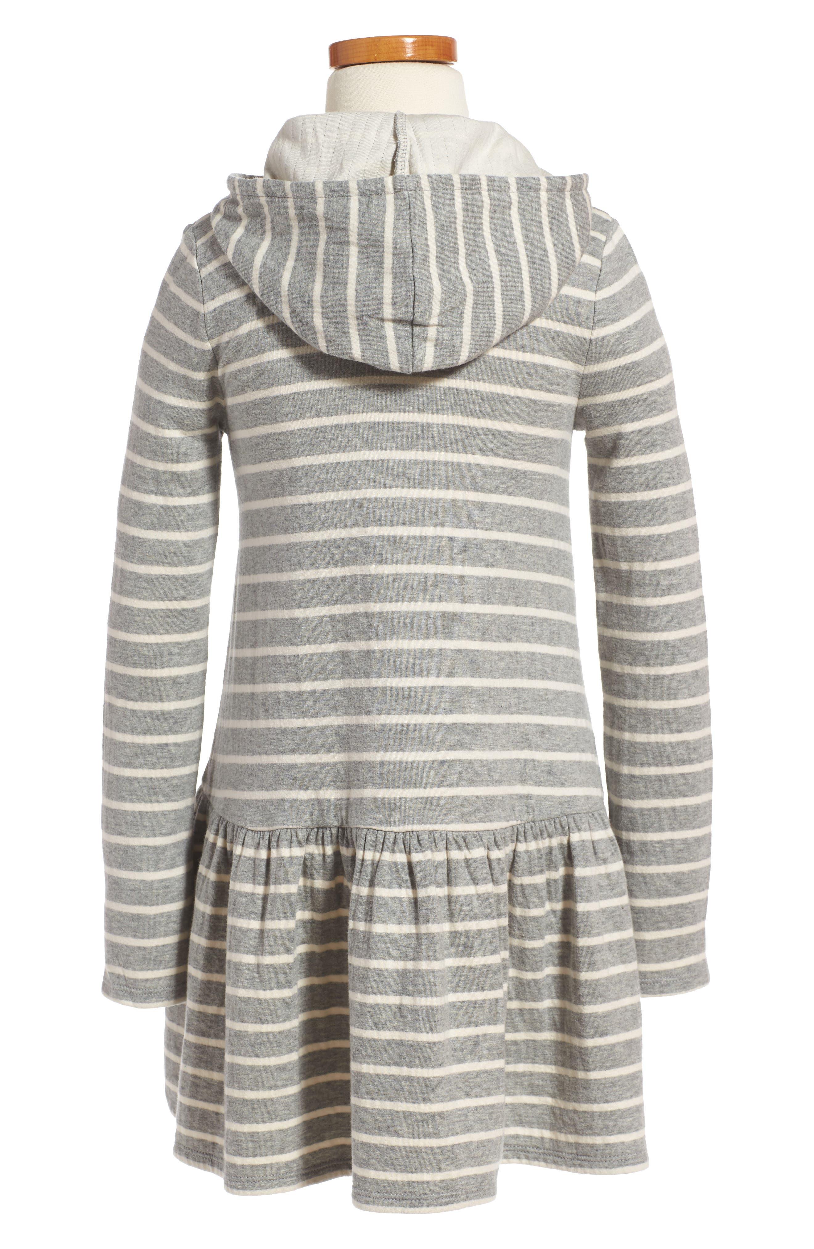 Alternate Image 2  - Tucker + Tate Stripe Hoodie Knit Dress (Toddler Girls, Little Girls & Big Girls)