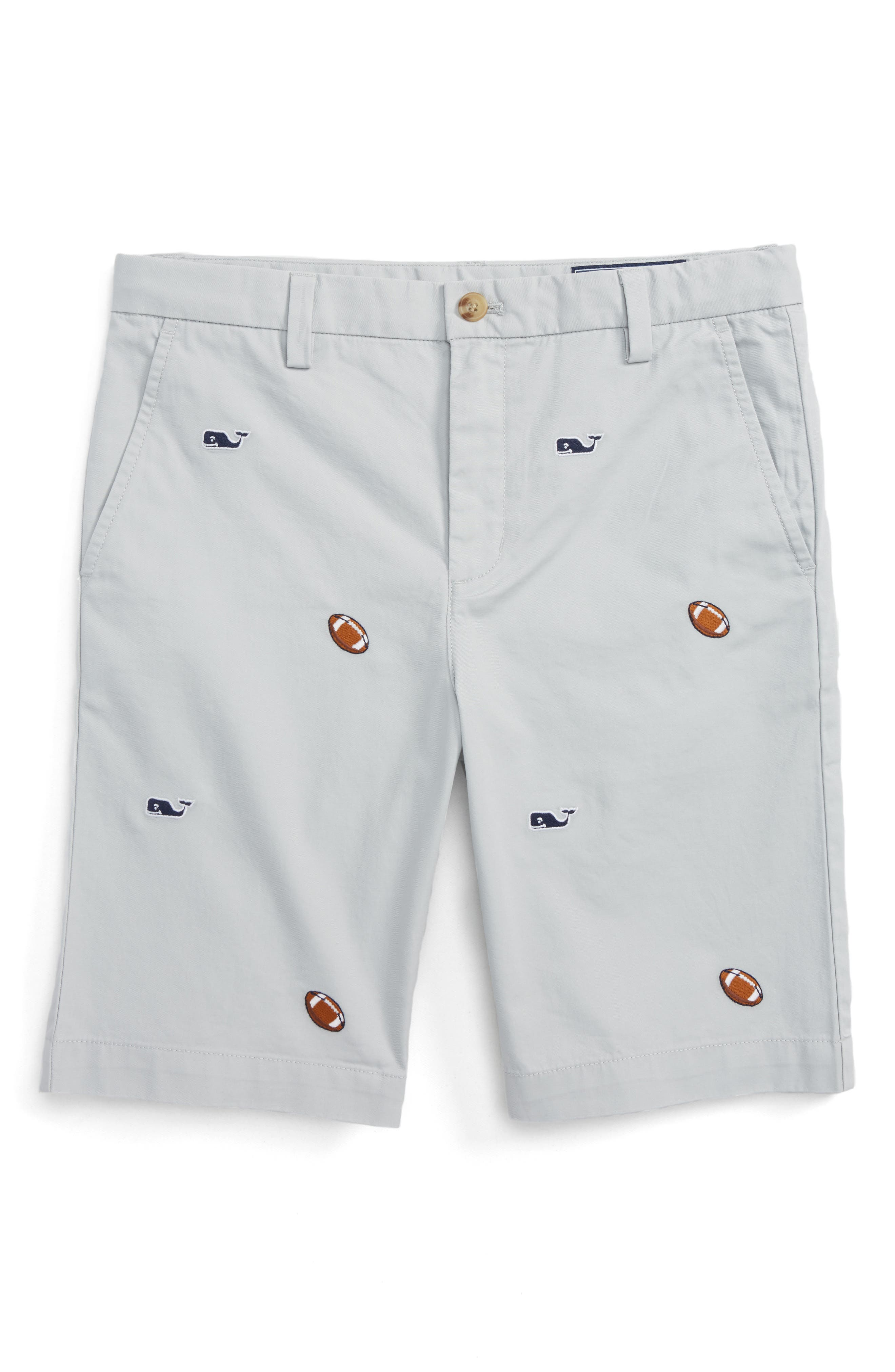 Vineyard Vines Breaker Football & Whale Embroidered Shorts (Big Boys)