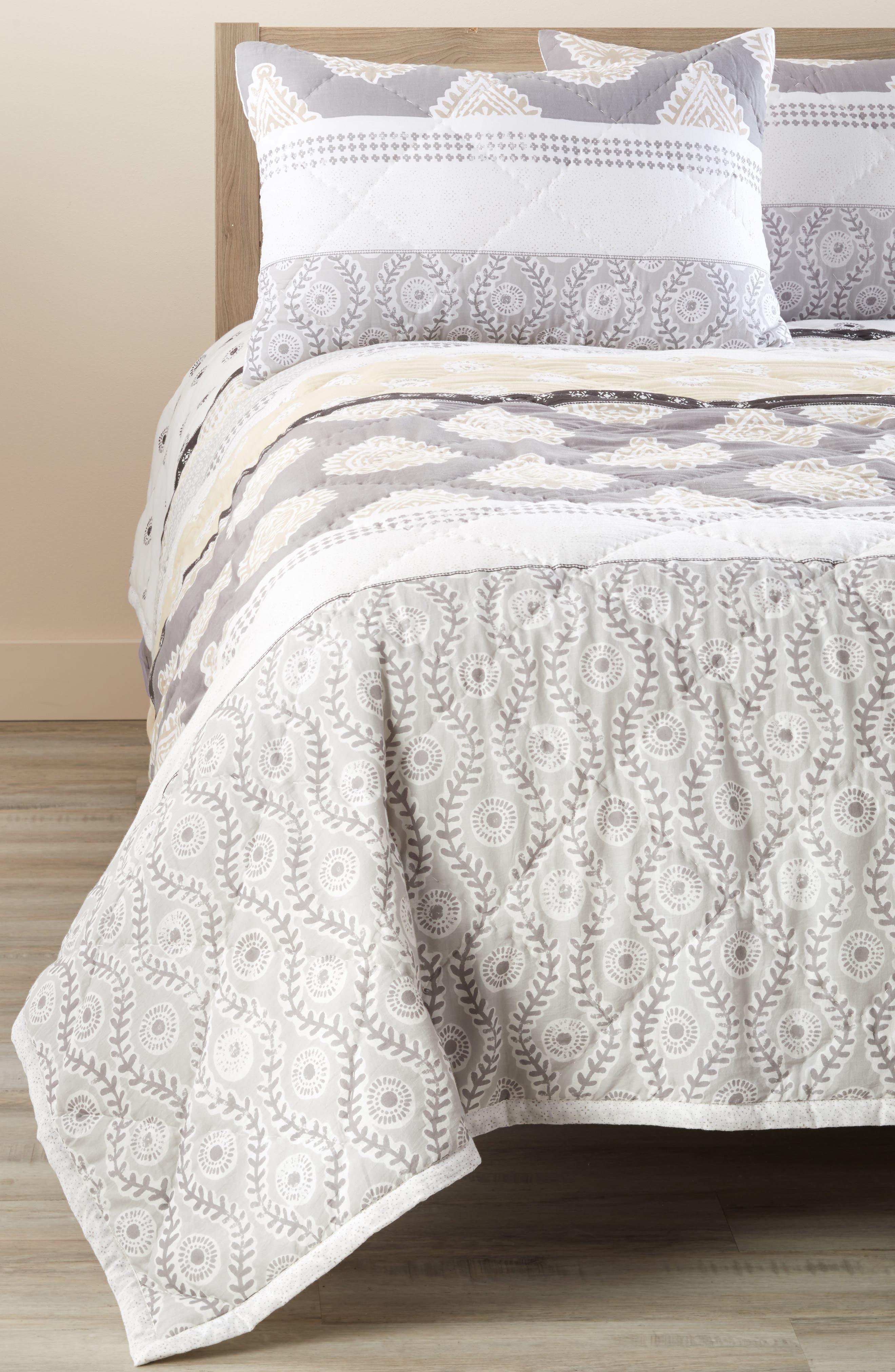 Nordstrom At Home Block Print Comforter