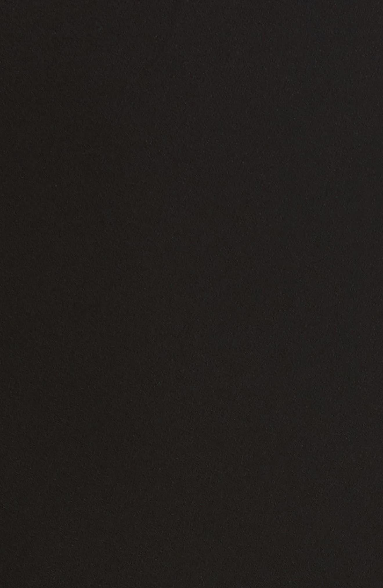 Knotted Neckline Drop Waist Dress,                             Alternate thumbnail 6, color,                             Black