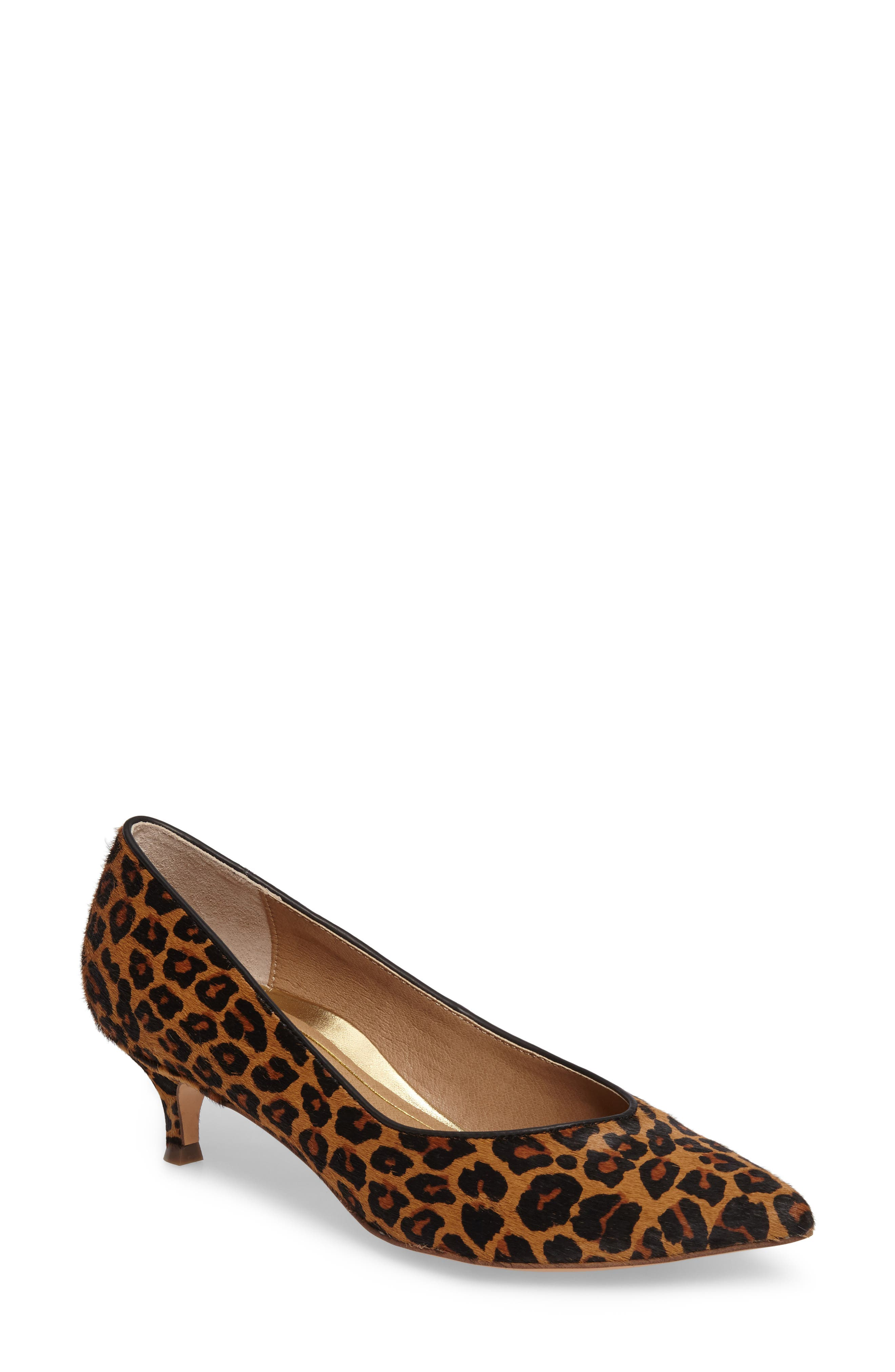 Vionic Josie Genuine Calf Hair Kitten Heel Pump (Women)