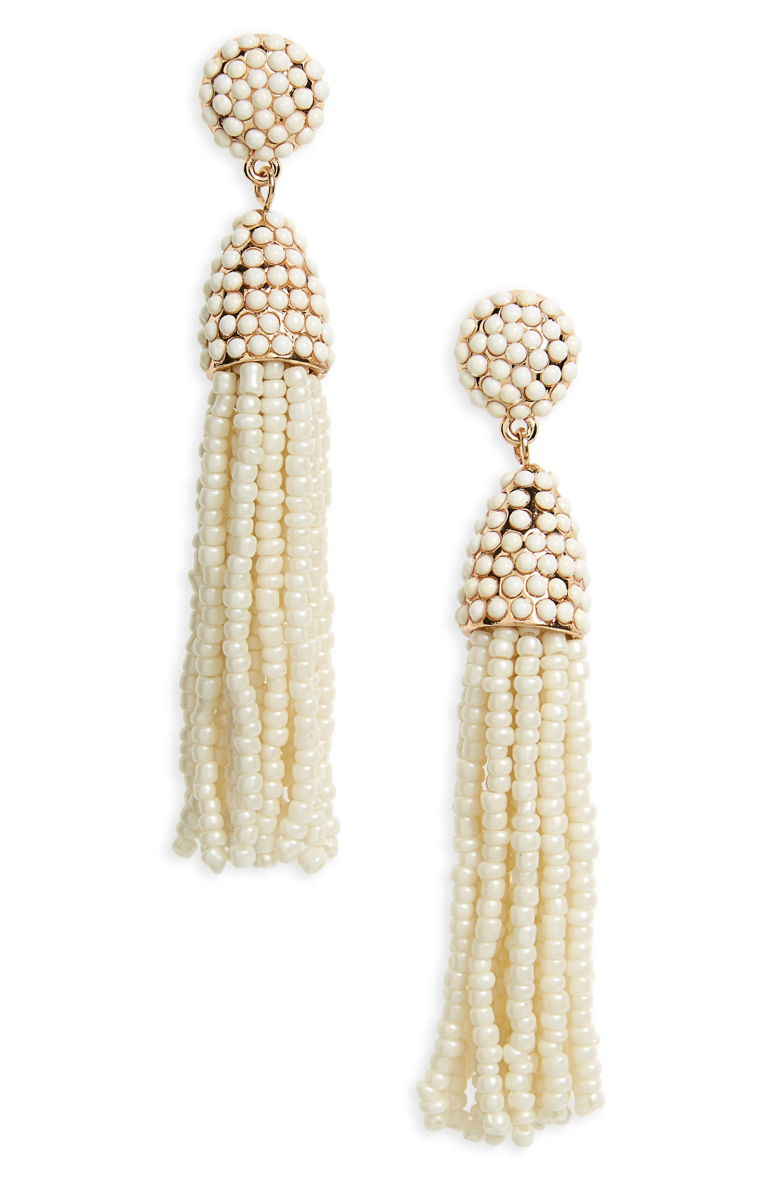 'Piñata' Tassel Earrings,                         Main,                         color, Cream