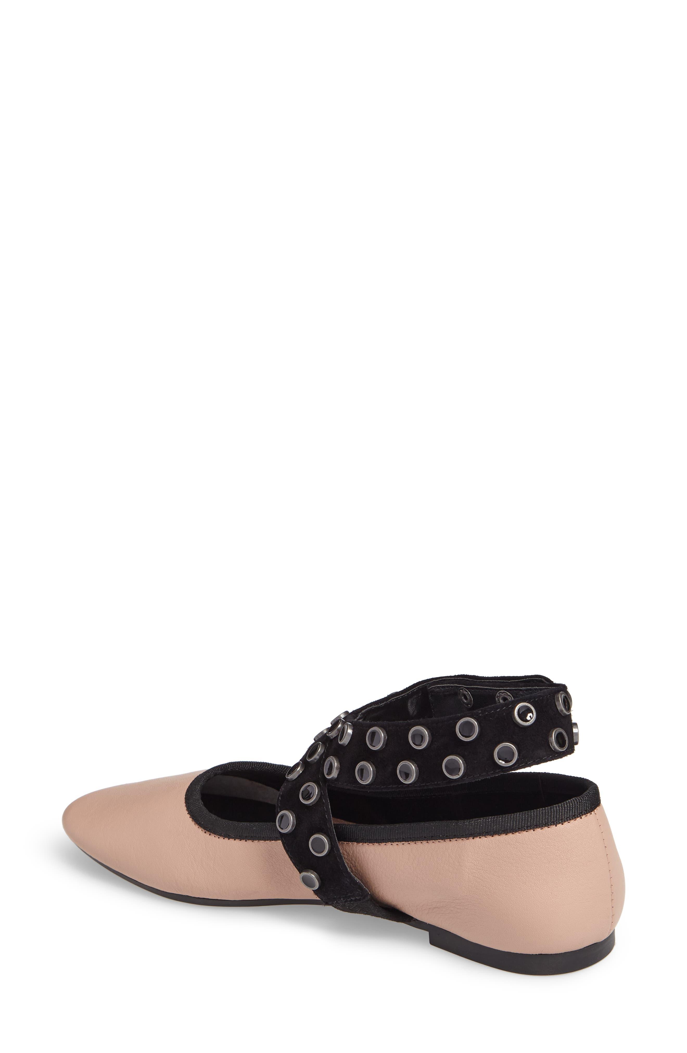 M4D3 Carla Wraparound Ankle Strap Flat,                             Alternate thumbnail 2, color,                             Blush Leather