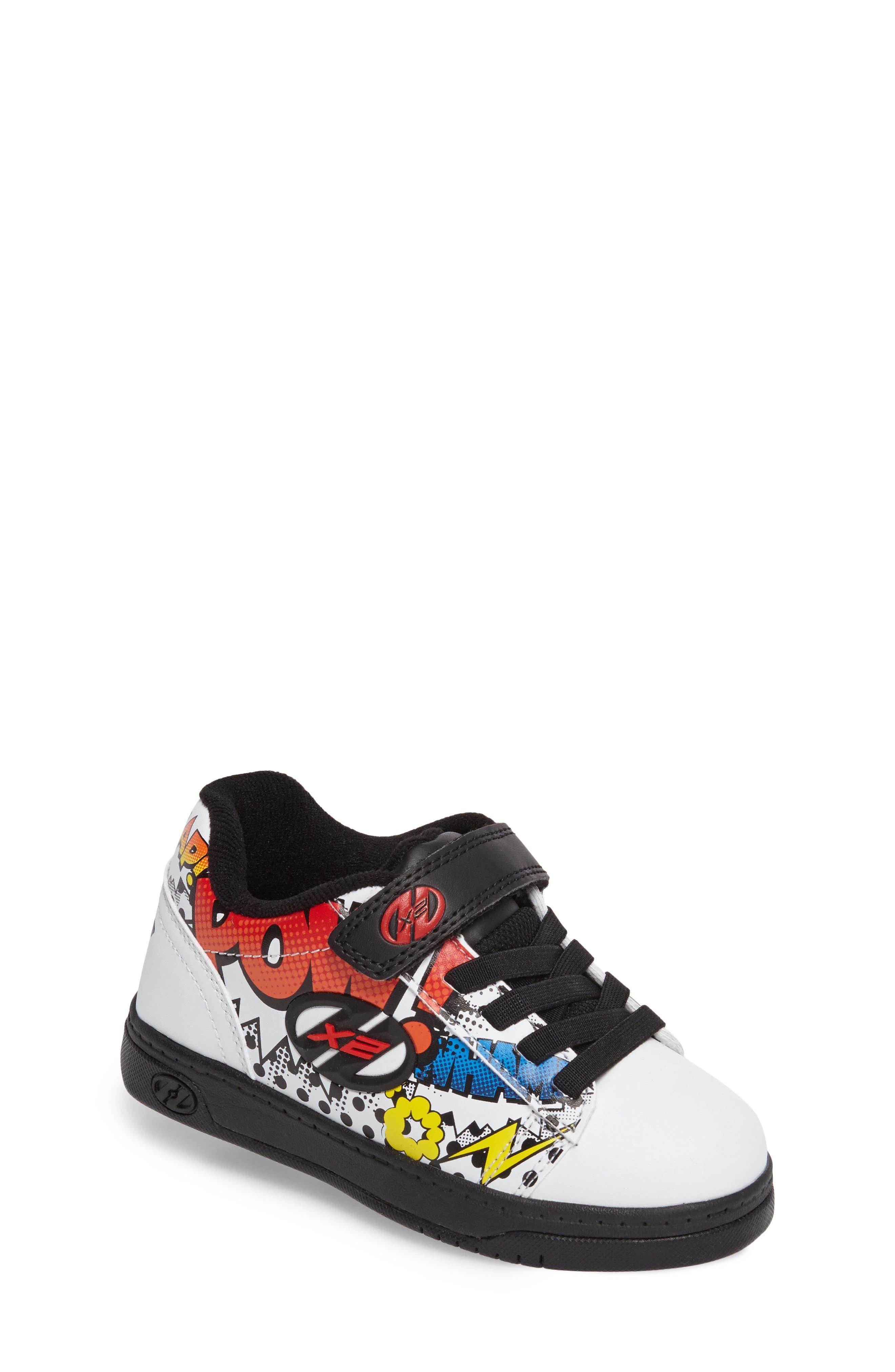 Dual Up X2 Comic Sneaker,                             Main thumbnail 1, color,                             White/ Black/ Multi Comic