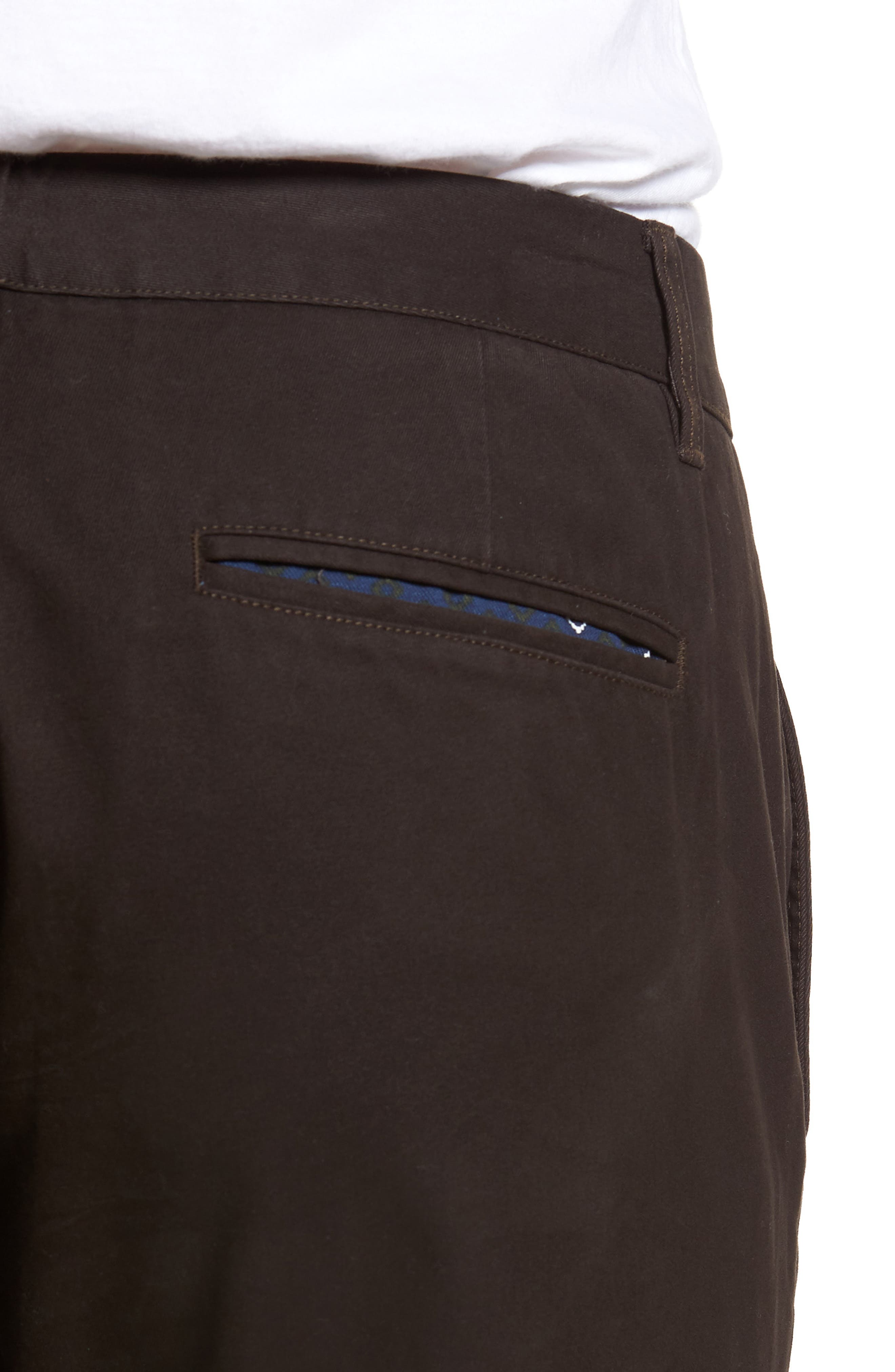Slim Fit Stretch Washed Chinos,                             Alternate thumbnail 4, color,                             Chocolate Ale