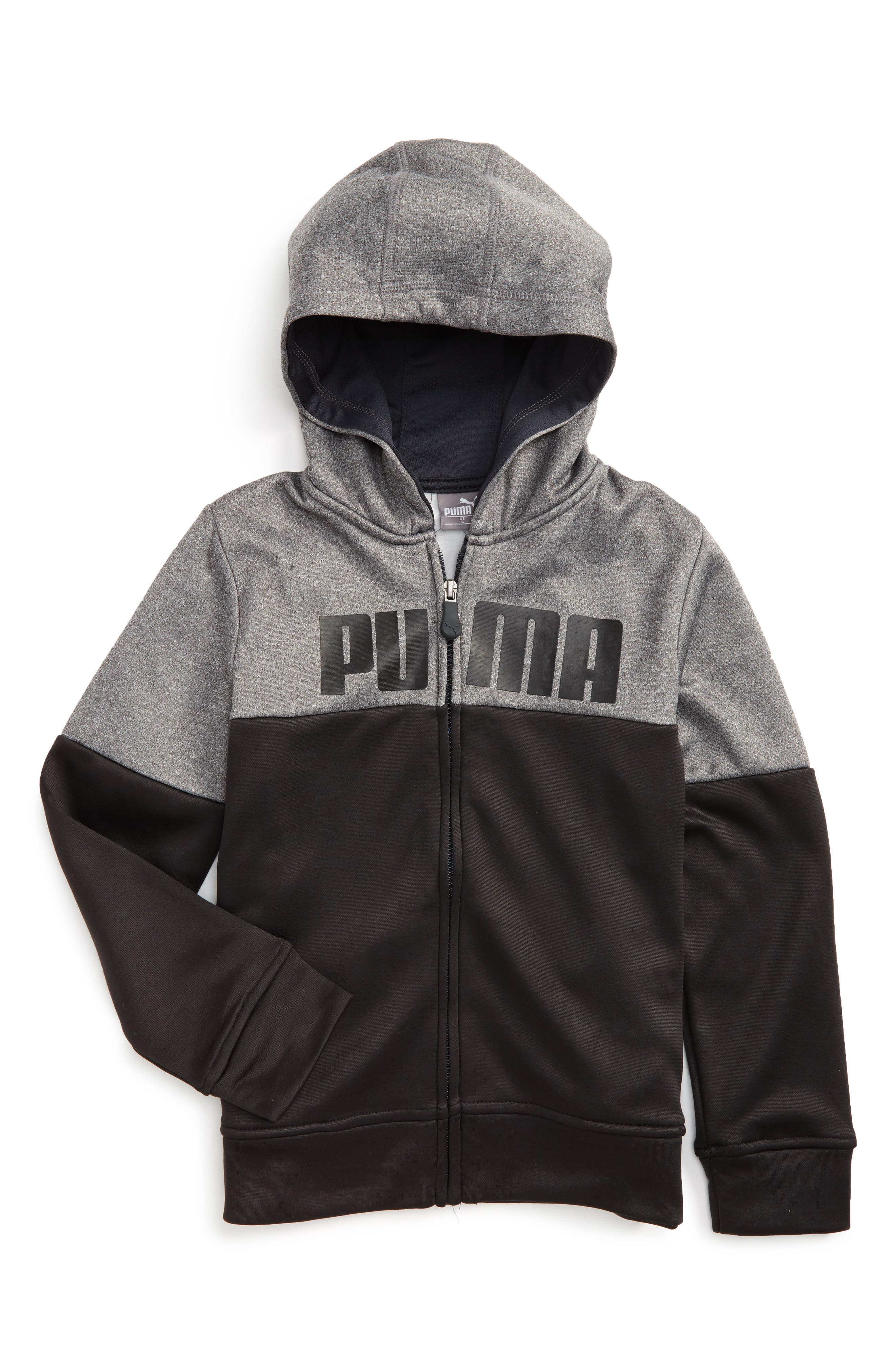 PUMA Logo Zip Hoodie (Little Boys)