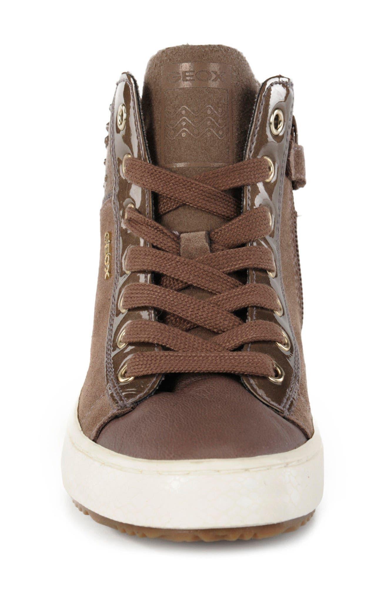 Kalispera Girl Embellished High Top Sneaker,                             Alternate thumbnail 5, color,                             Dark Beige